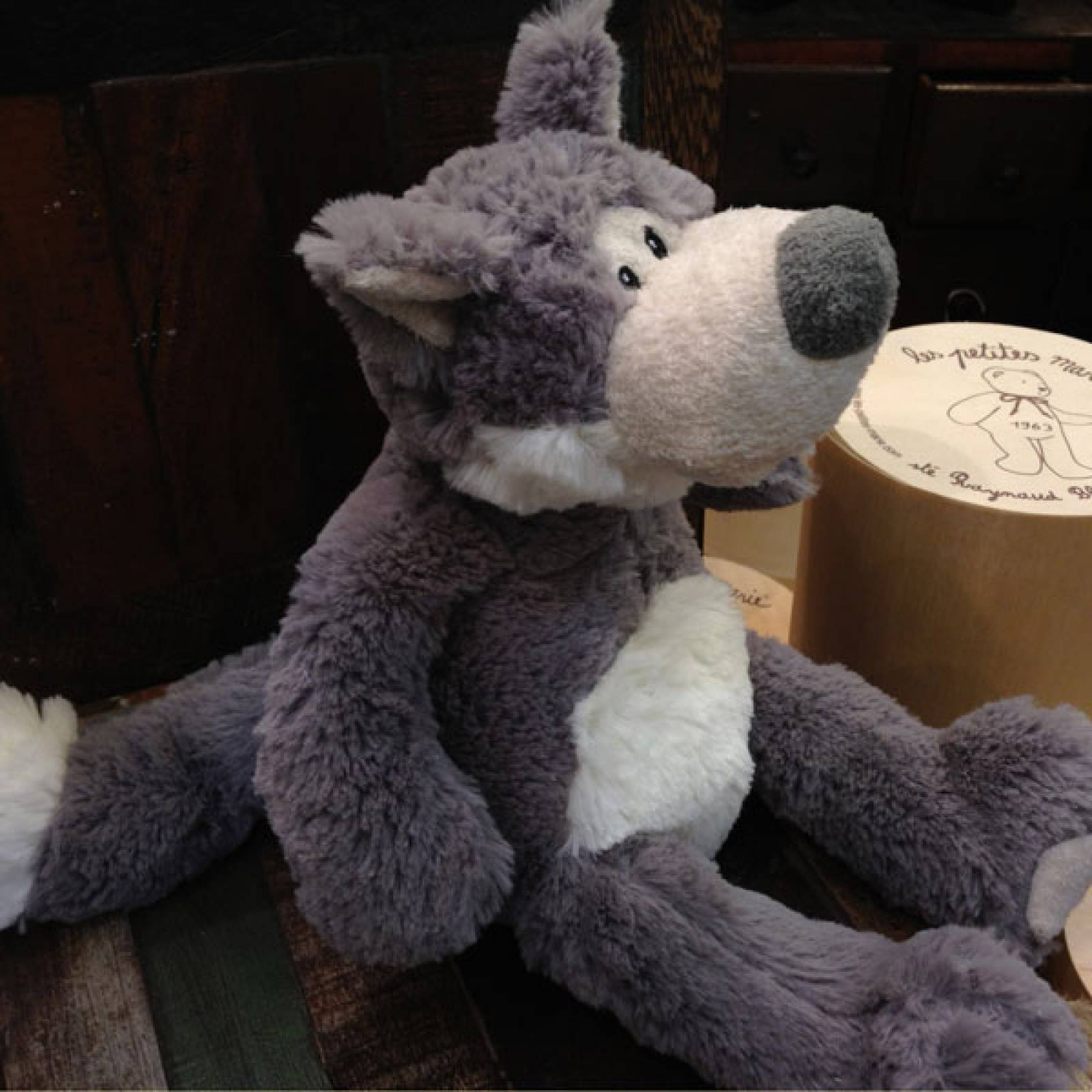 Wolf Soft Toy 30cm In Decorative Gift Bag