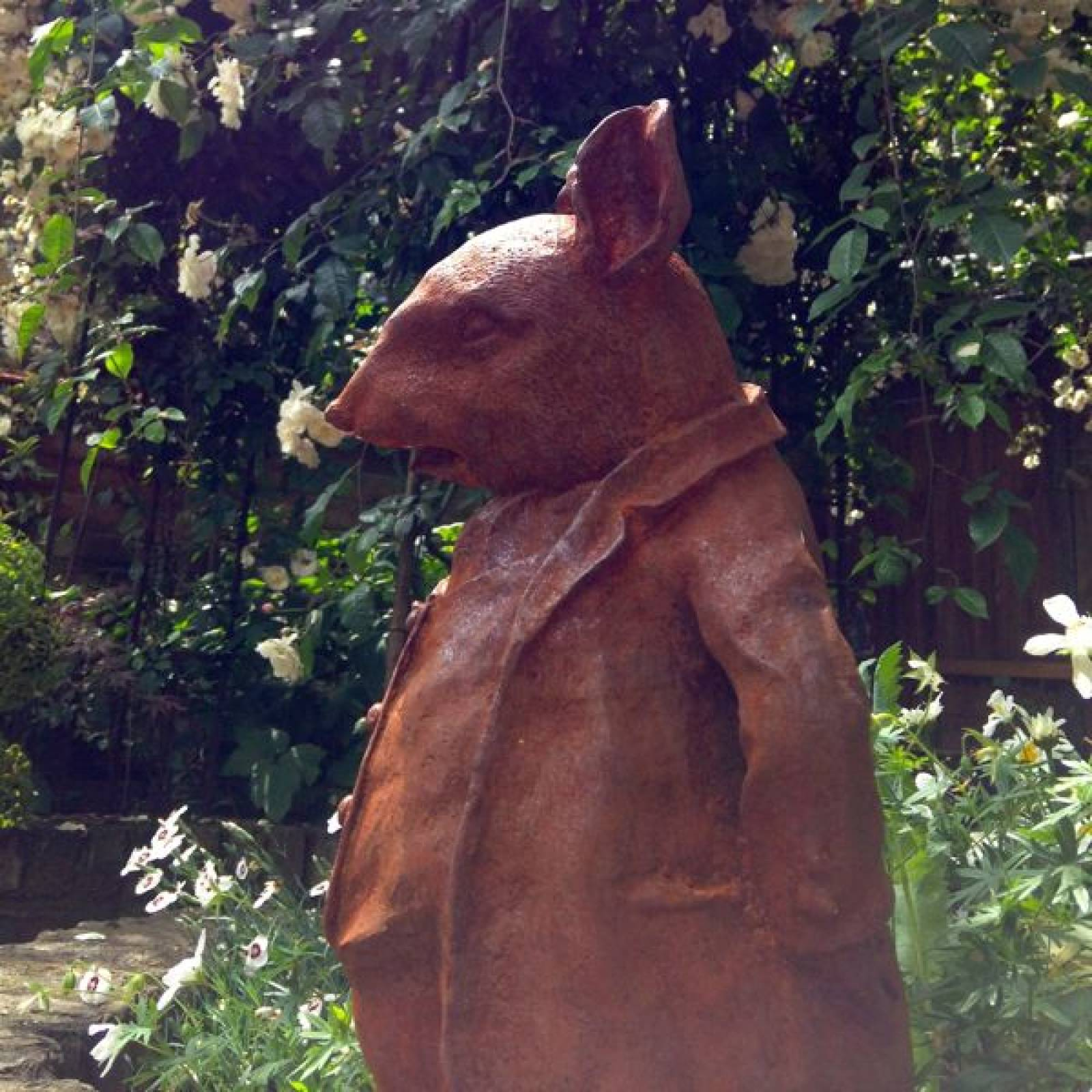 Cast Iron Mr Ratty Garden Ornament