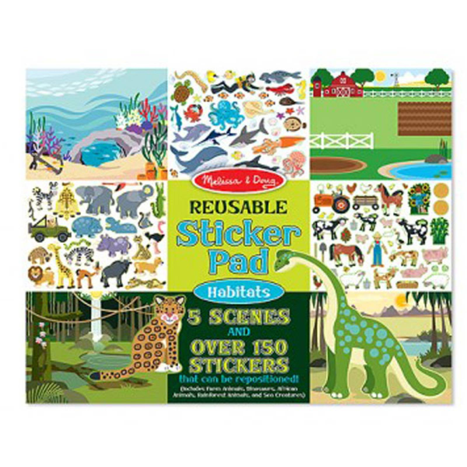 Reusable Sticker Pad - Habitats 3+