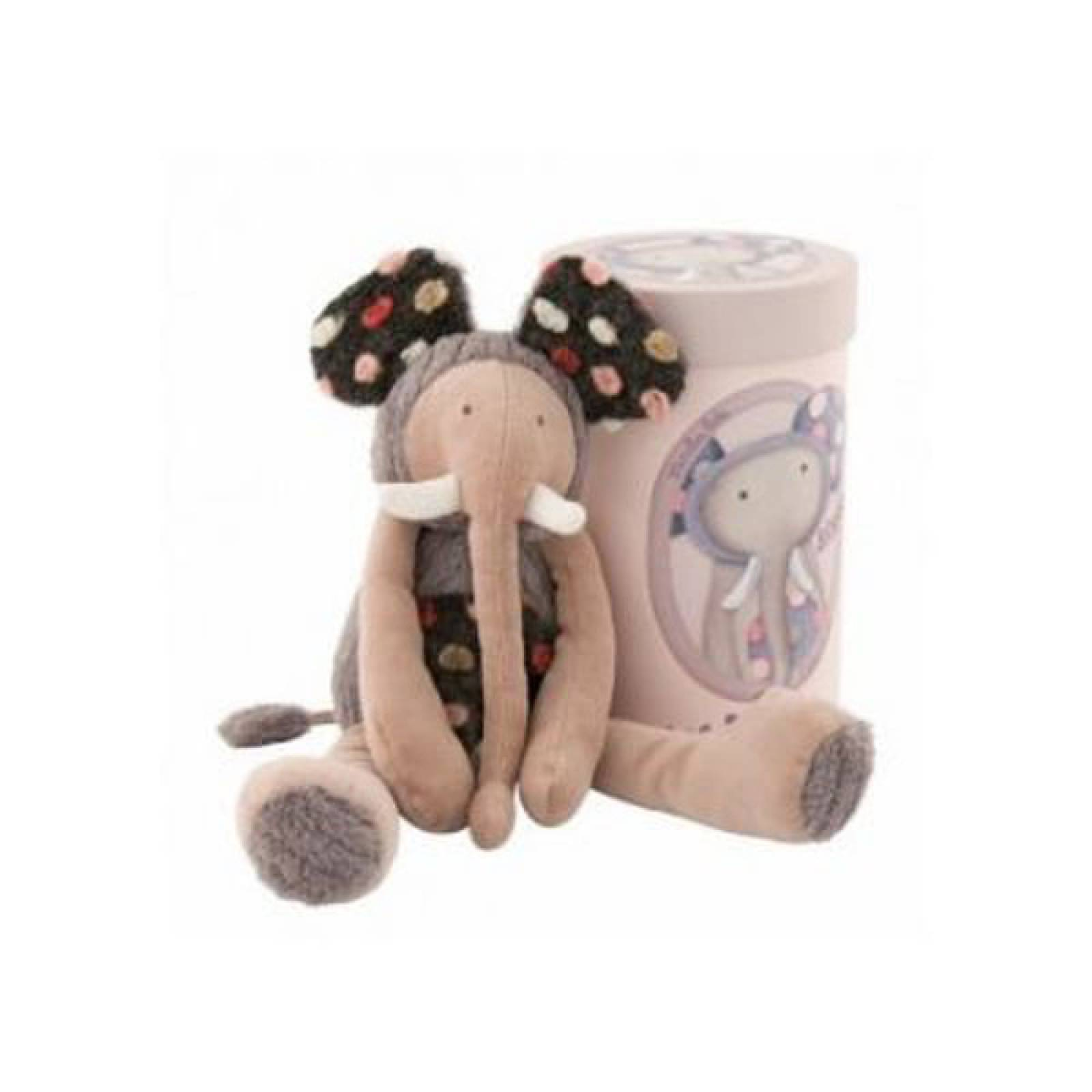 Elephant Soft Toy In Cylinder Box