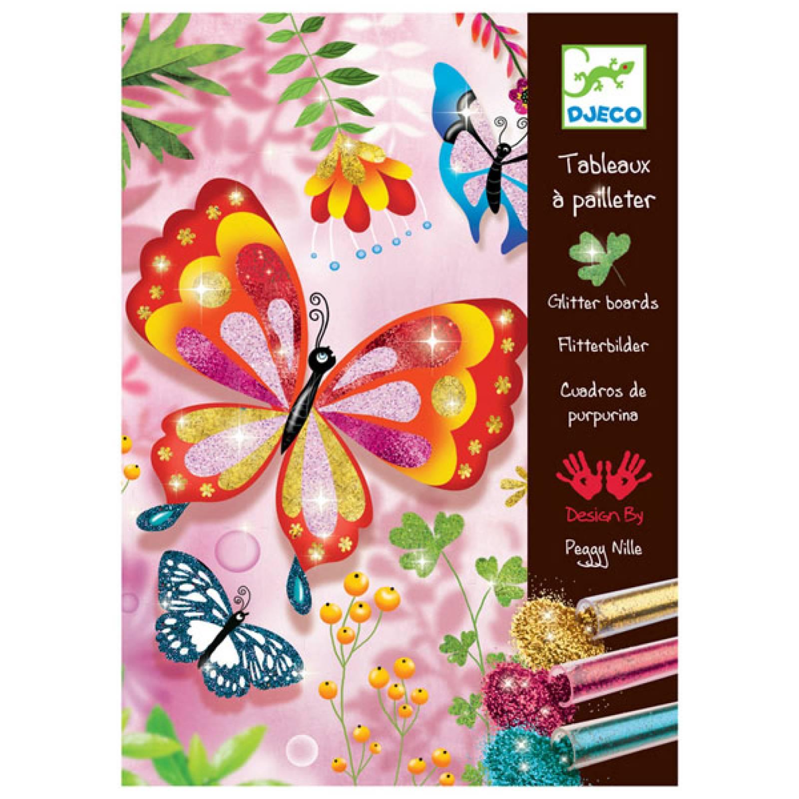 Butterflies Glitter Sand Art Set By Djeco 8-12yrs thumbnails