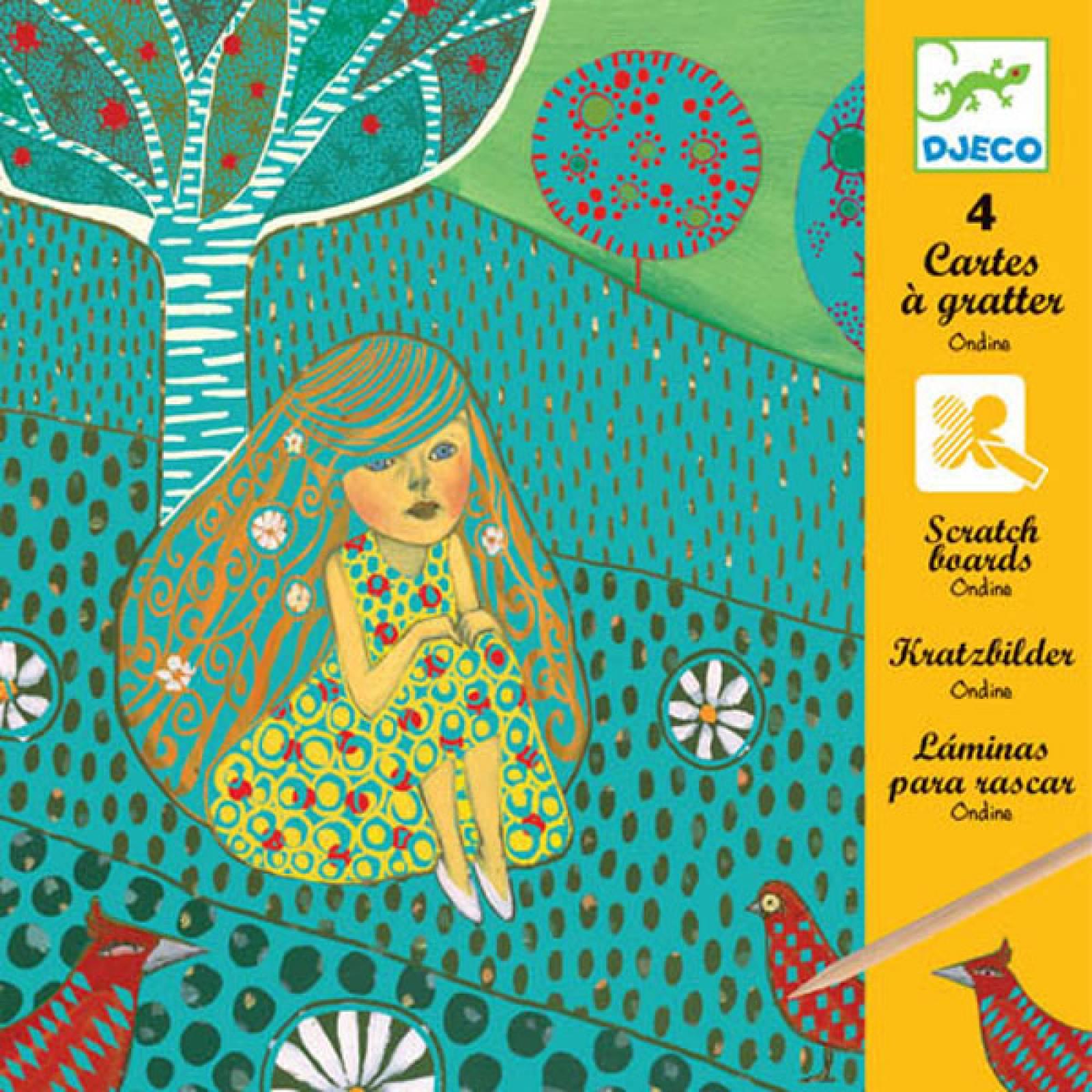 Odine Colour Scratch Art Cards By Djeco