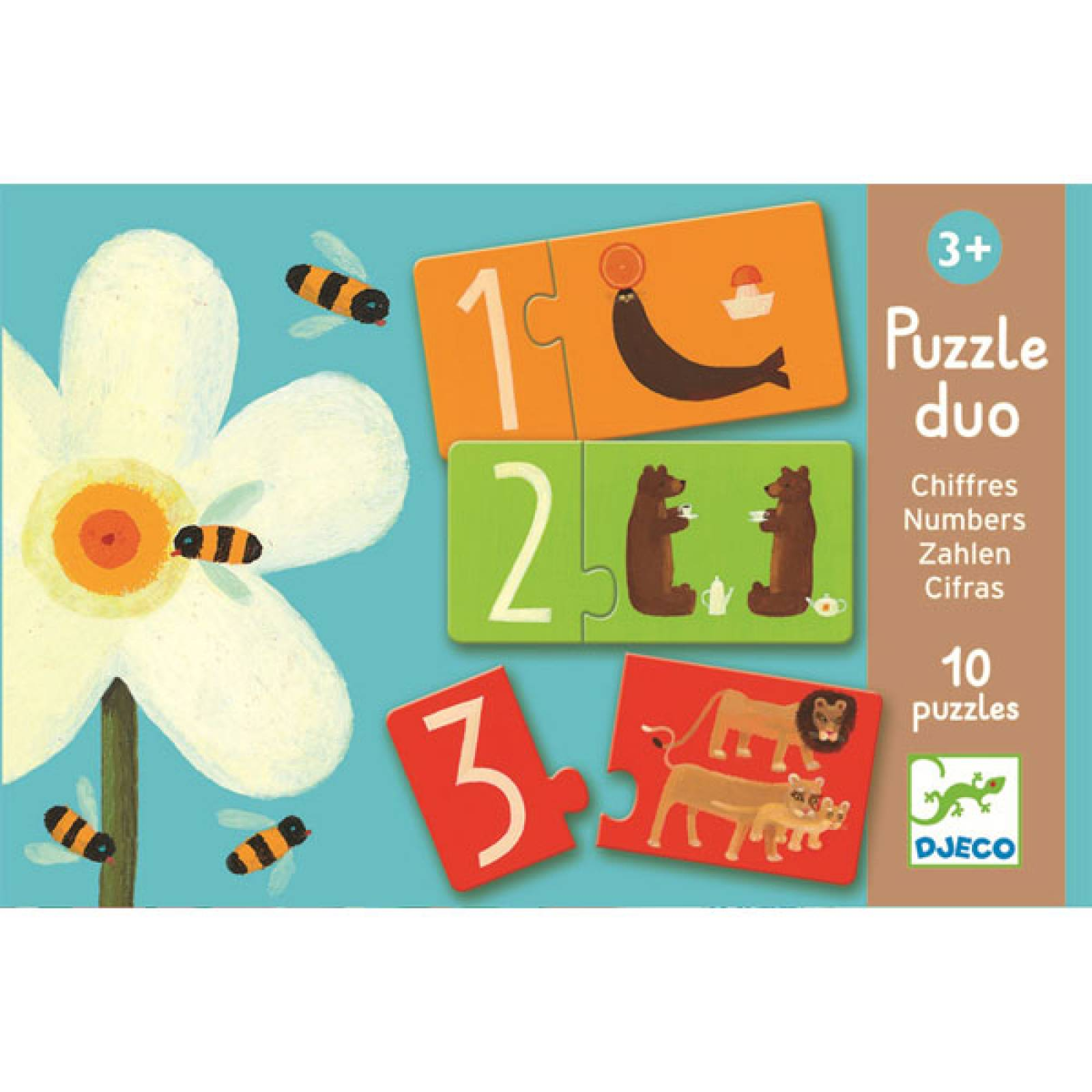 Number Puzzle Duo Game By Djeco 2+ thumbnails