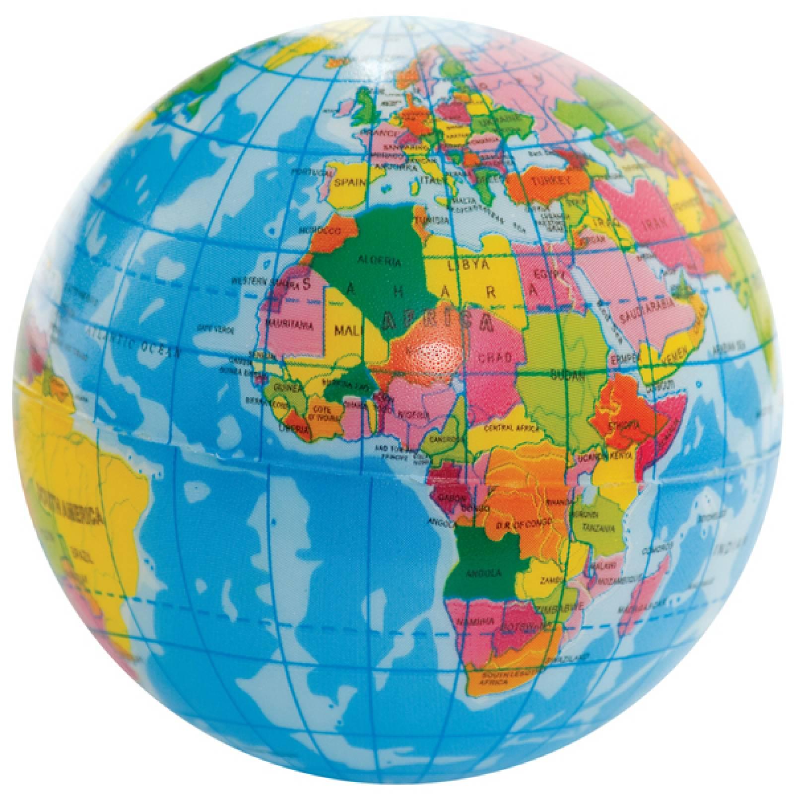 World Map Ball - Foam Globe 6cm.