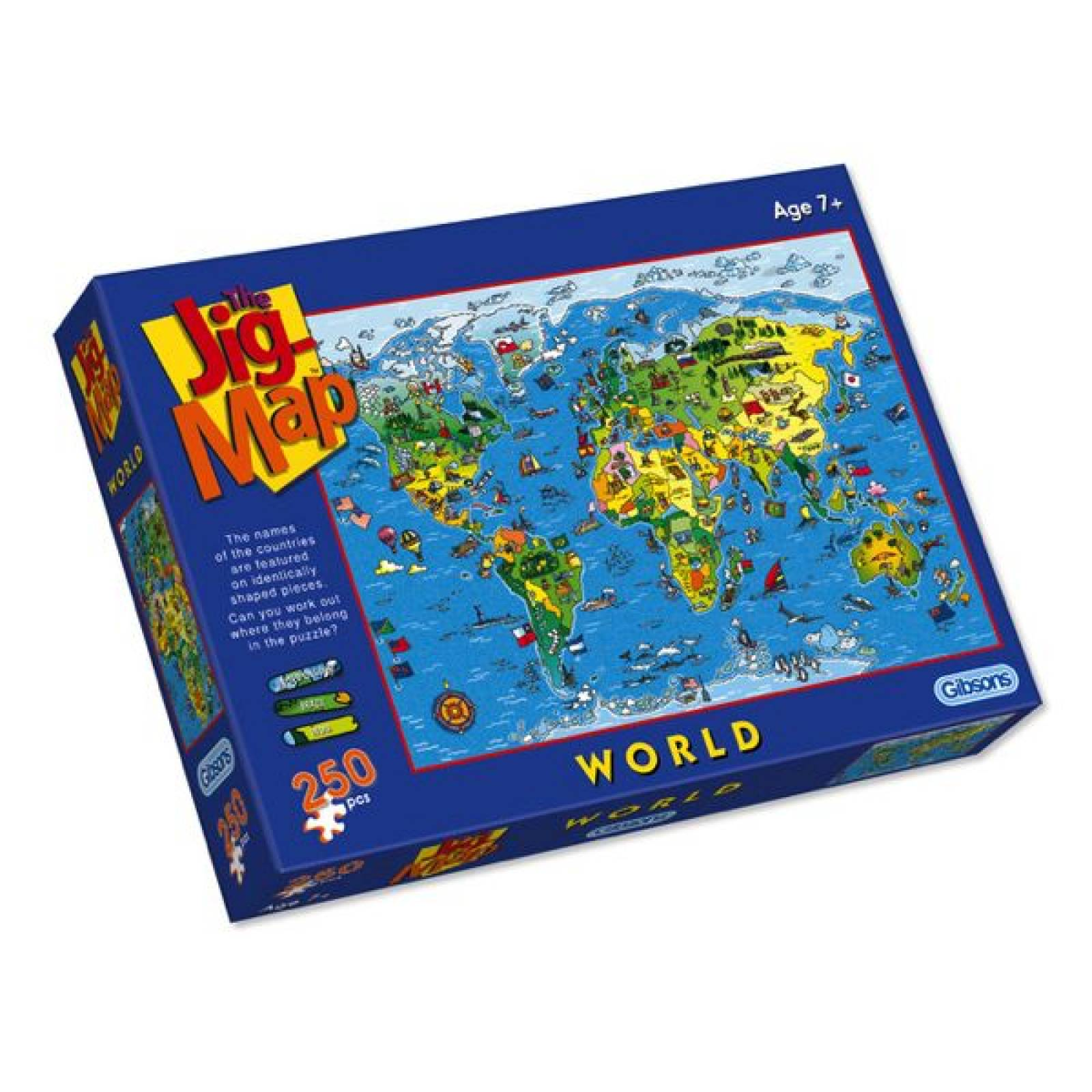 Jigsaw Puzzle JIGMAP World 250 pieces 7yrs+ thumbnails