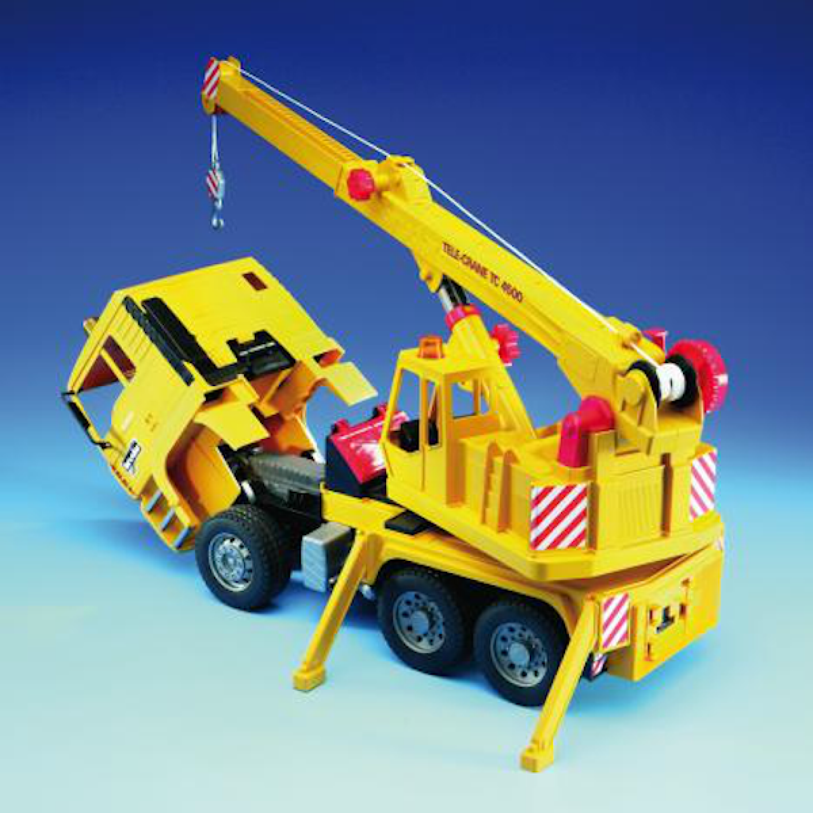 Bruder MAN TGA Yellow Crane truck thumbnails