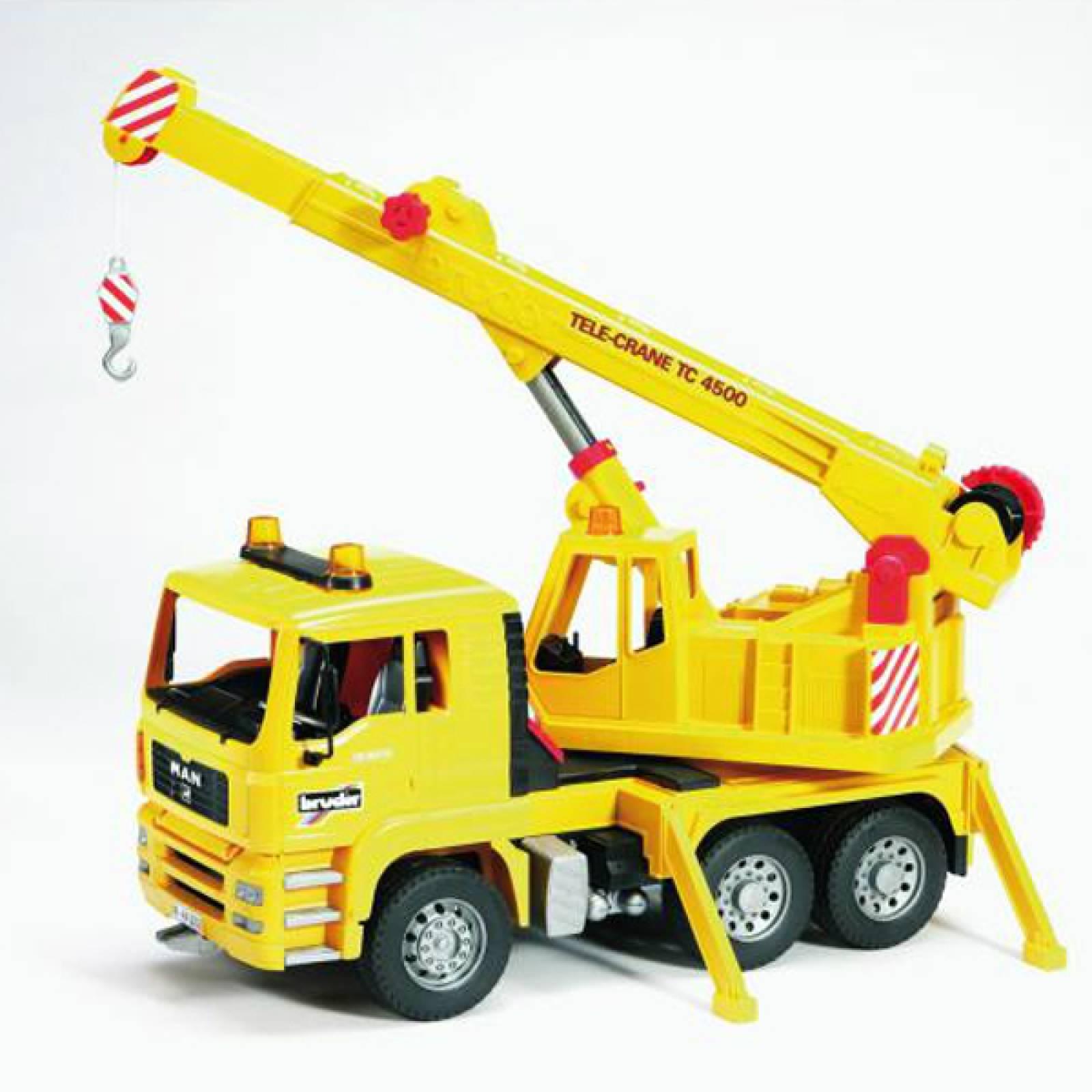Bruder MAN TGA Yellow Crane truck