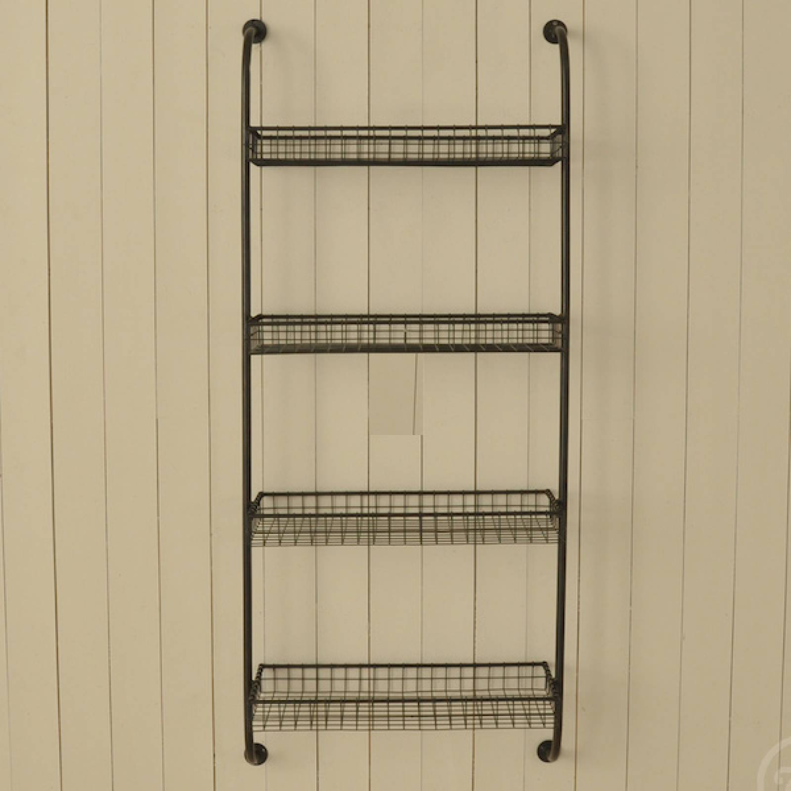 Wall Mounting Shelf Unit With 4 Wire Shelves