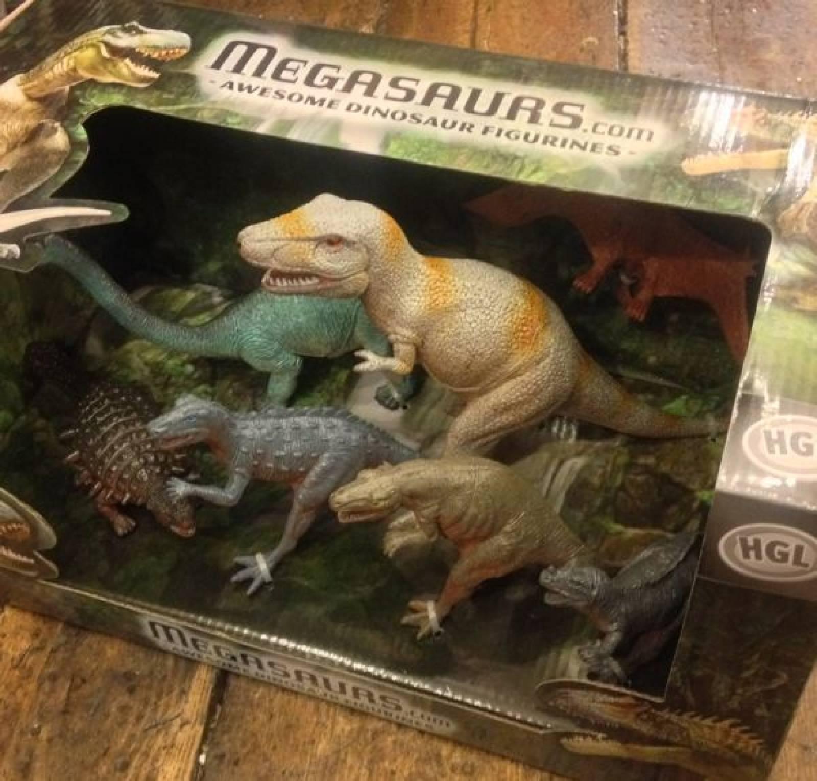 Box of 7 Dinosaurs ( set ) 5y+