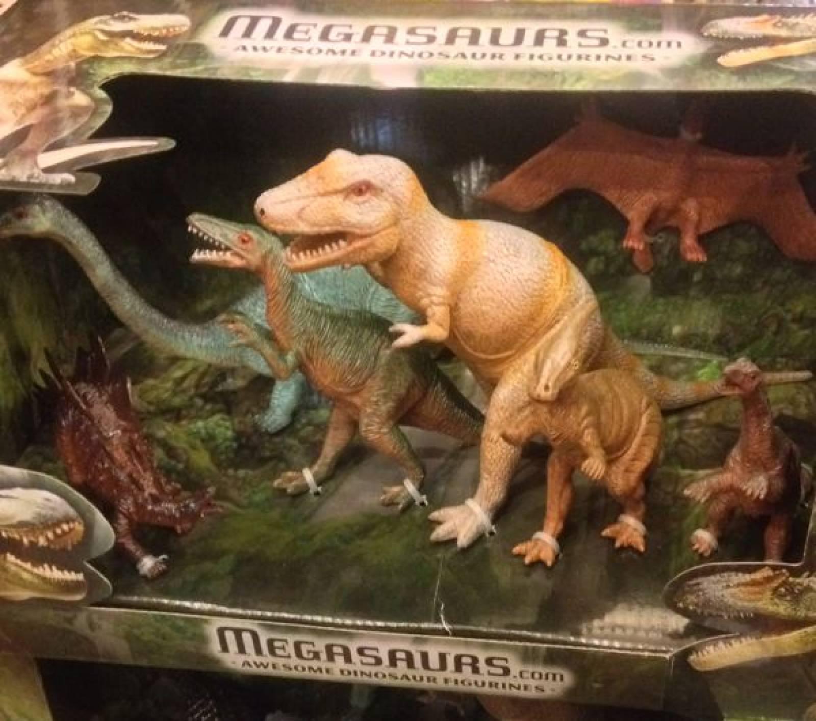 Box of 7 Dinosaurs ( set ) 5y+ thumbnails
