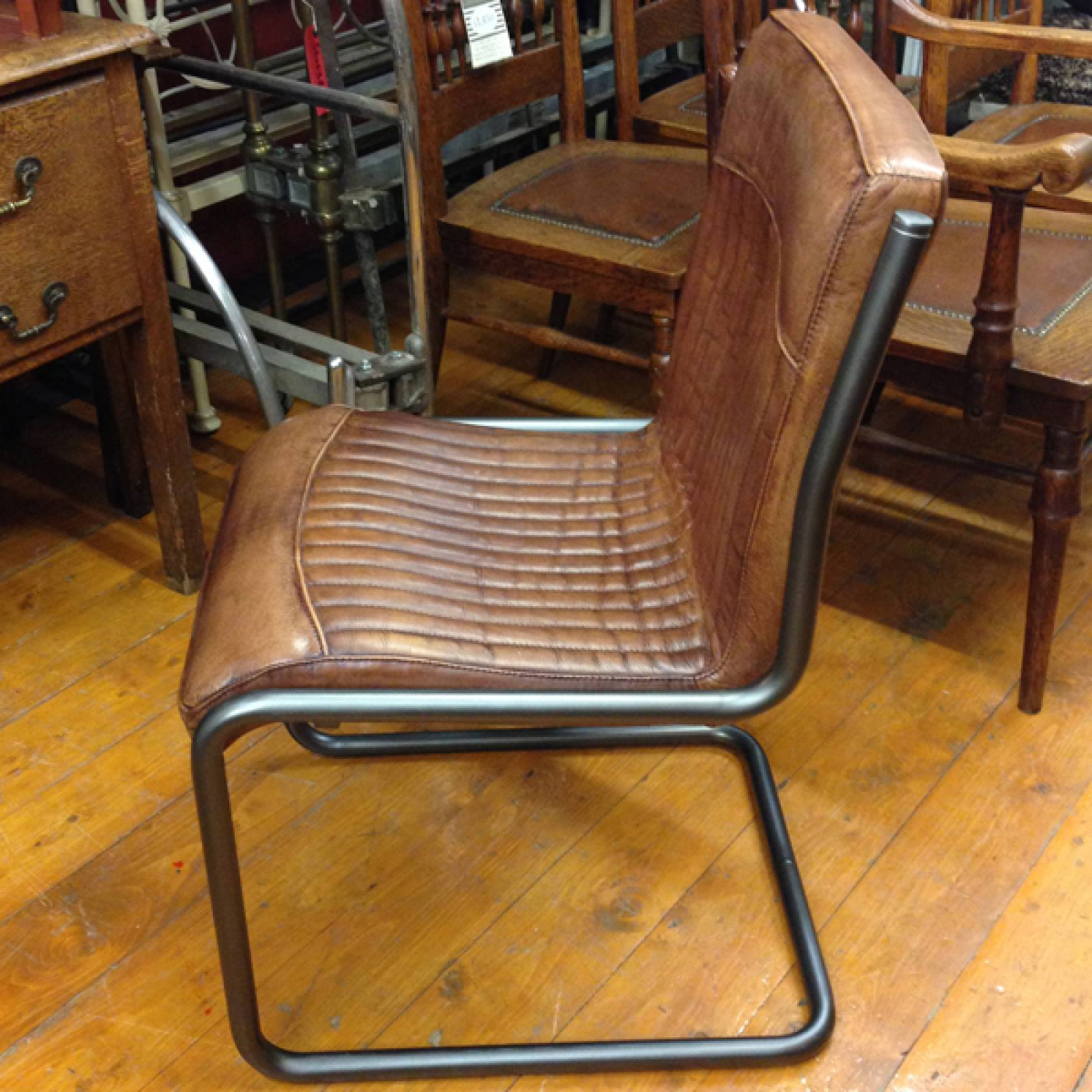 Bauhaus Cantilever Leather & Steel Chair thumbnails