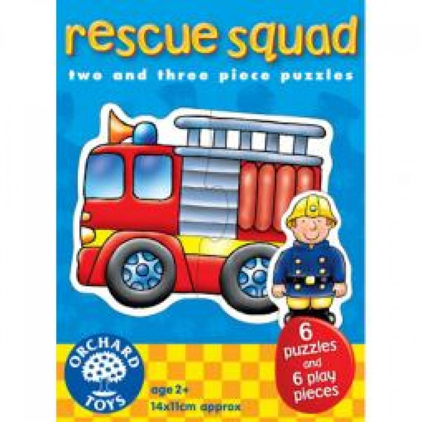 Rescue Squad 6 In A Box Puzzles By Orchard - 18mth+