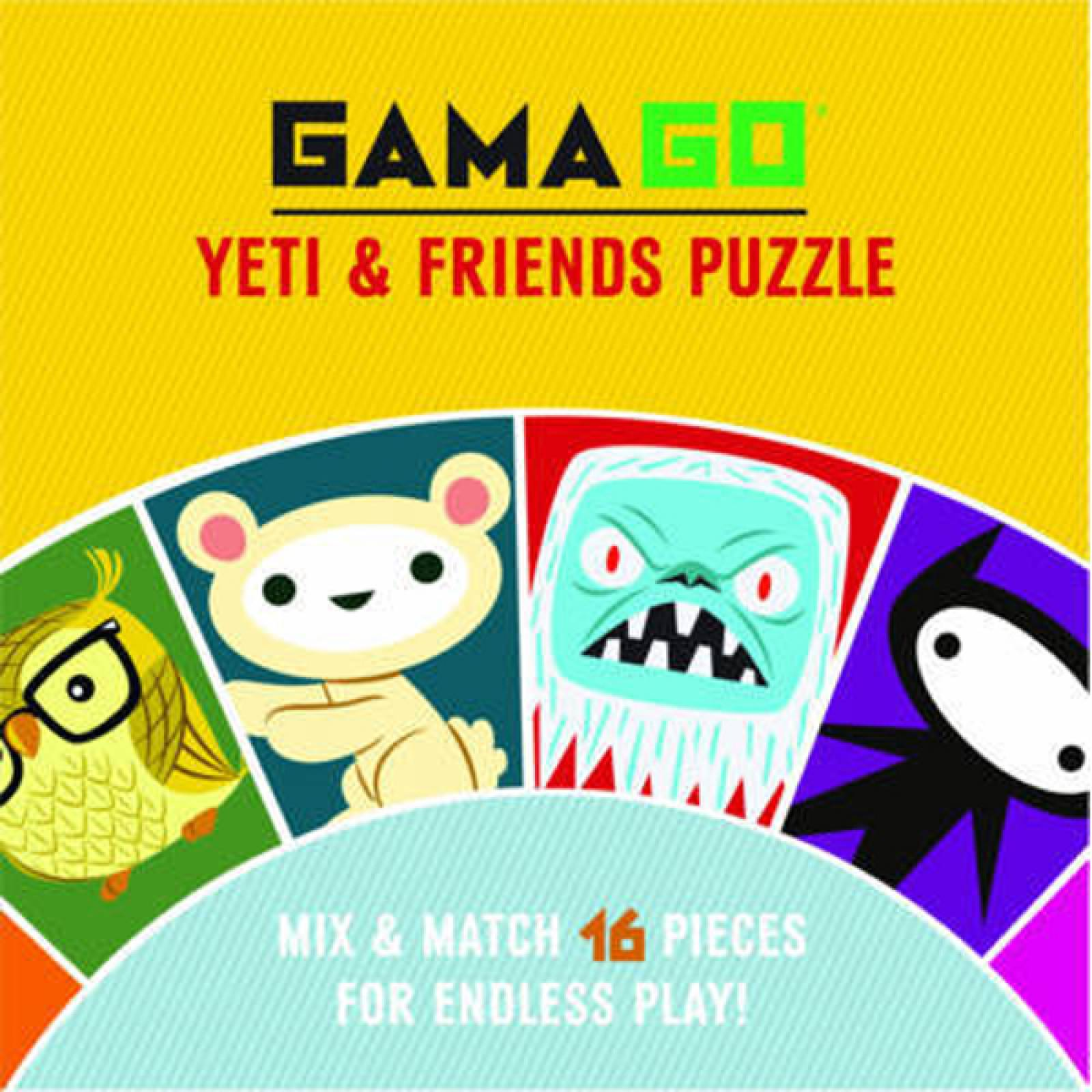 Yeti & Friends Puzzle 16 Piece Mix And Match thumbnails