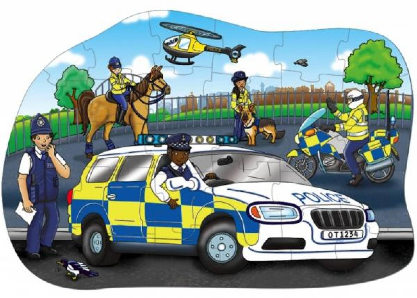 Big Police Car Puzzle Jigsaw By Orchard Toys 2-5yrs