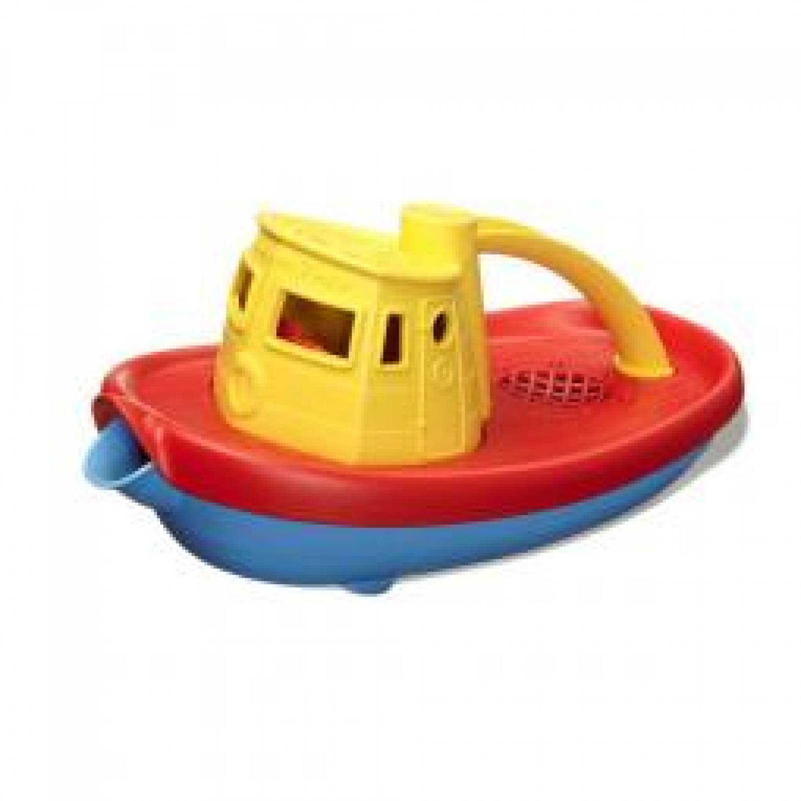 Yellow Top Pouring Tug Boat 6mth+ Recycled Plastic