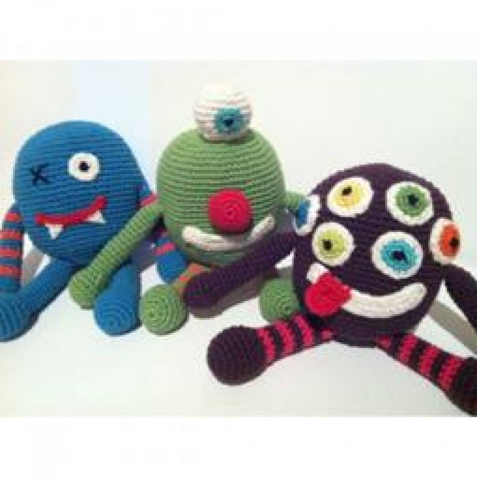 Purple Crochet Monster Handmade Soft Toy