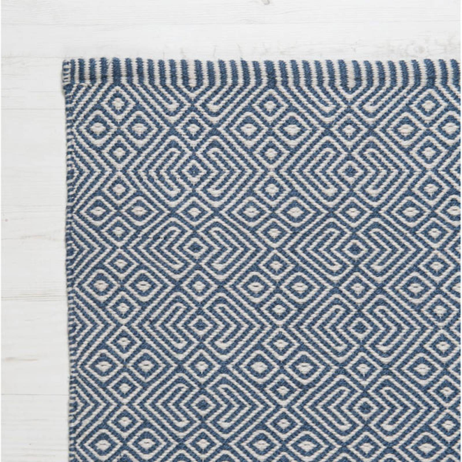 Provence NAVY 240 x 170cm Recycled Bottle Rug