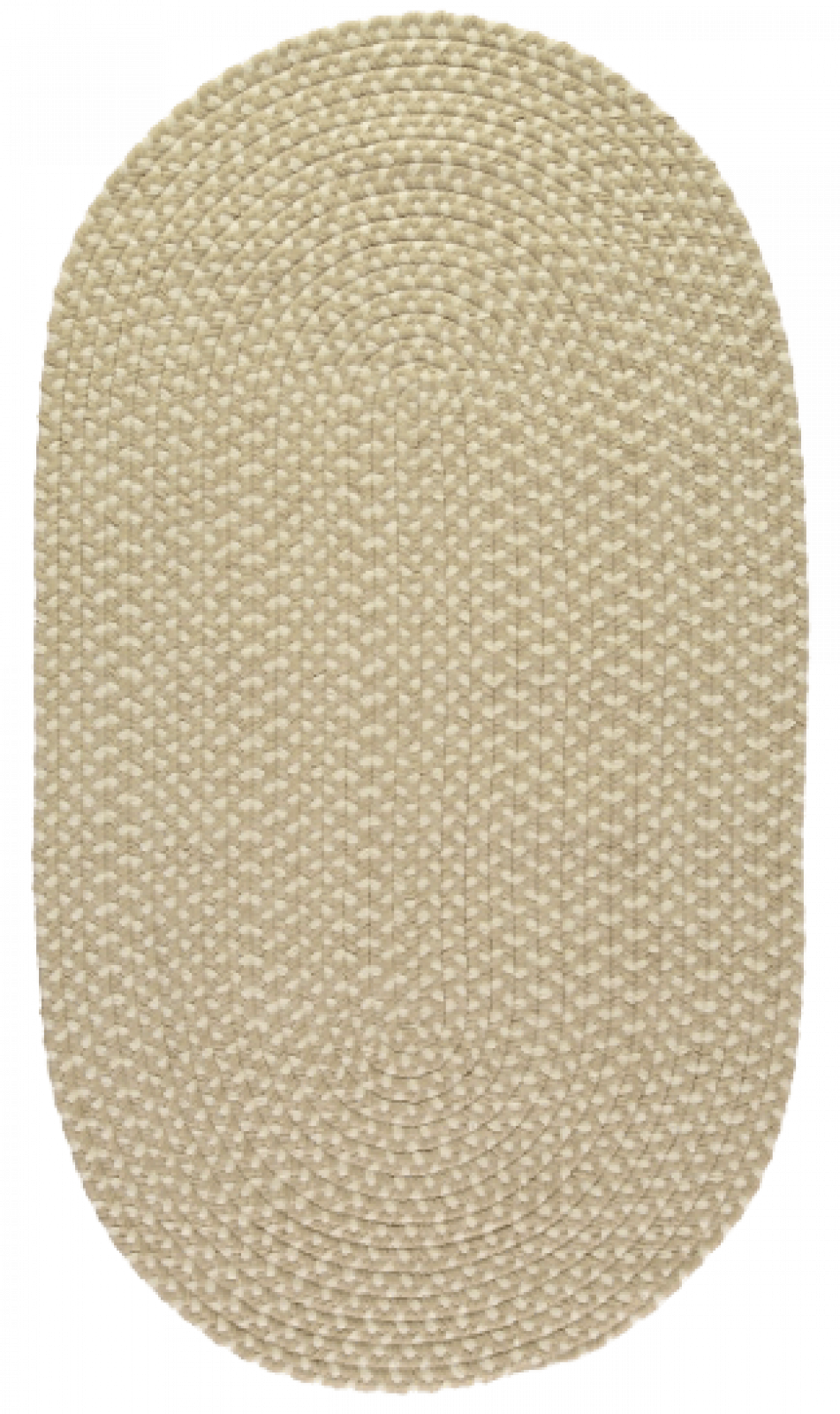 Putty Oval Braided Rug Recycled Plastic 61x91cm