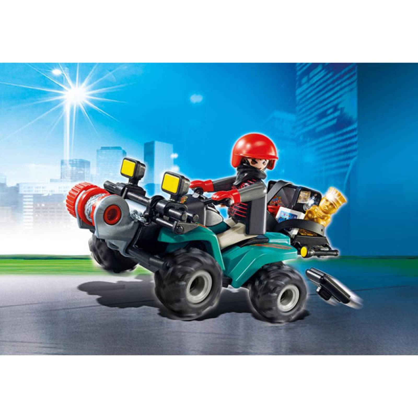 Robber's Quad with Loot City Action Playmobil 6879 thumbnails