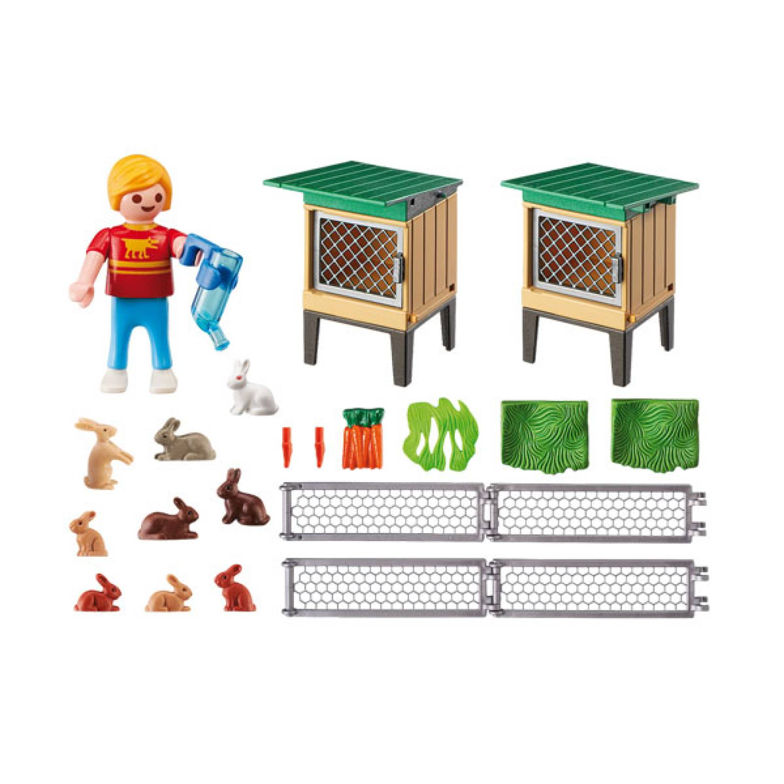 Rabbit Pen With Hutch Playmobil 6140 thumbnails
