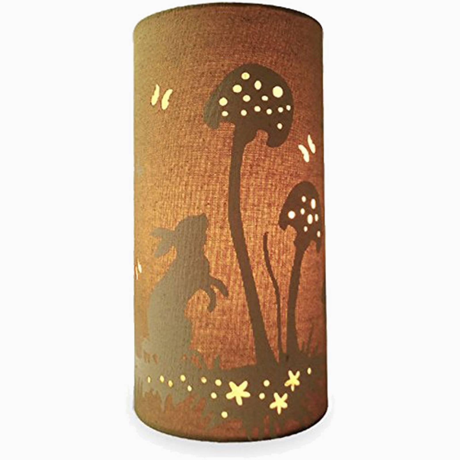Rabbit - Cylindrical Fabric Lamp