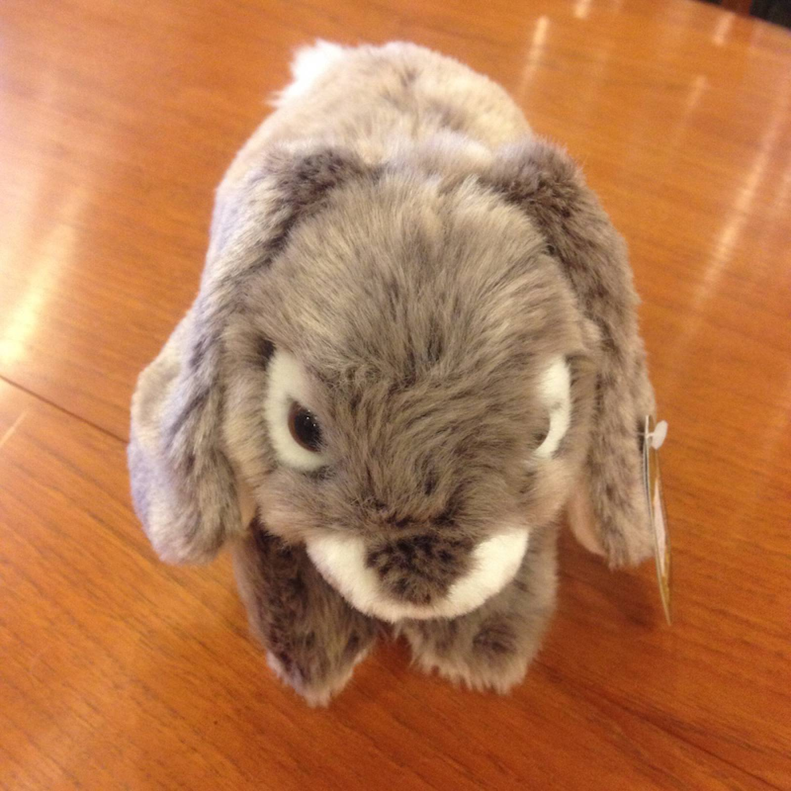 Rabbit Soft Toy With Long Ears Grey