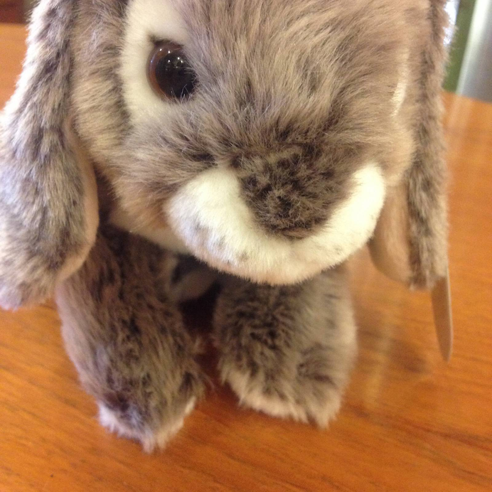 Rabbit Soft Toy With Long Ears Grey thumbnails