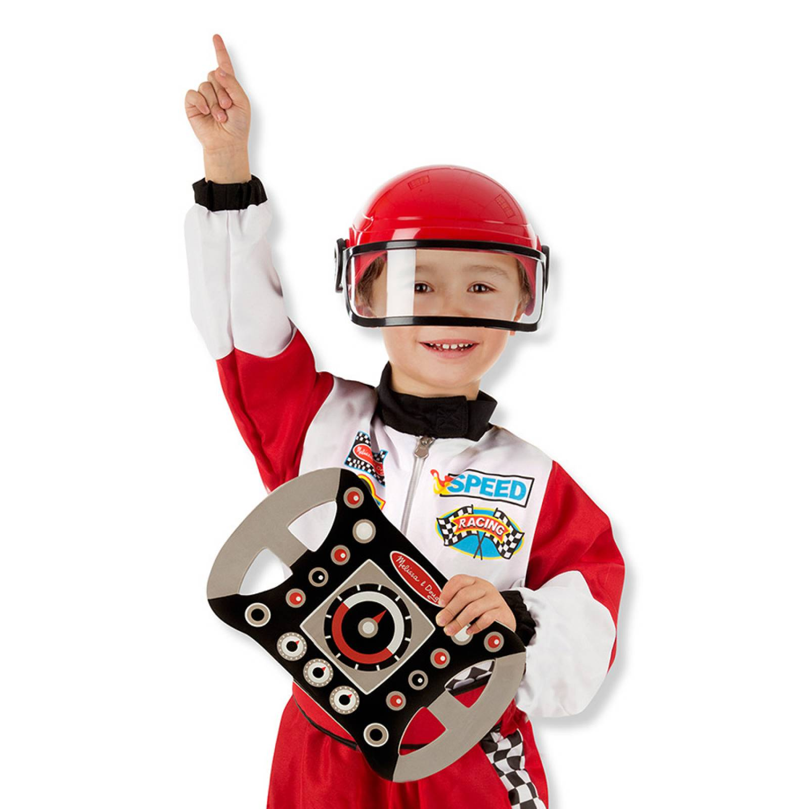 Racing Car Driver Fancy Dress Role Play Costume Set thumbnails