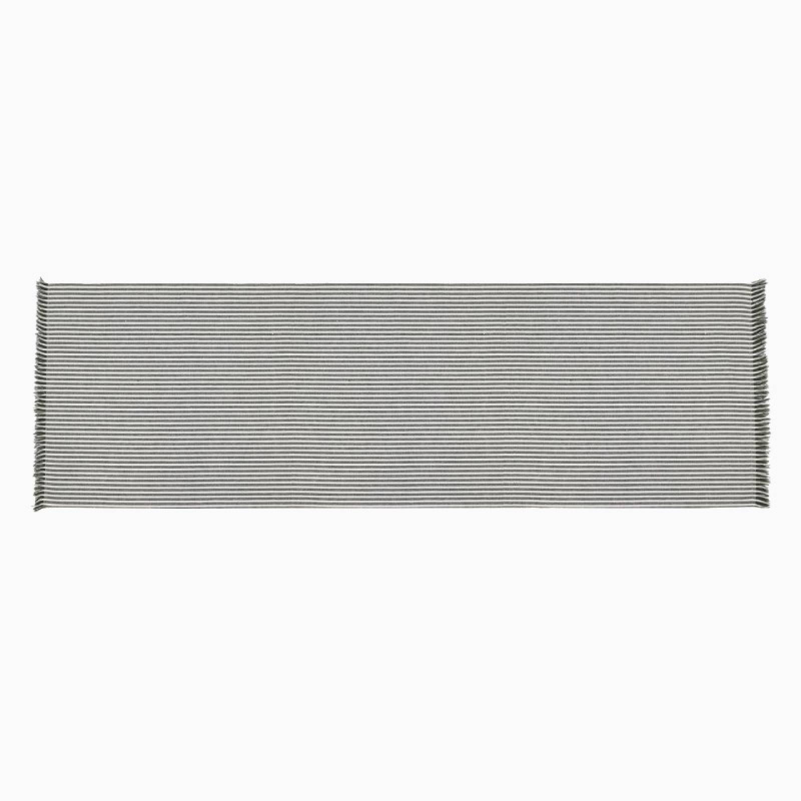 Recycled Cotton Striped Table Runner In Olive Green