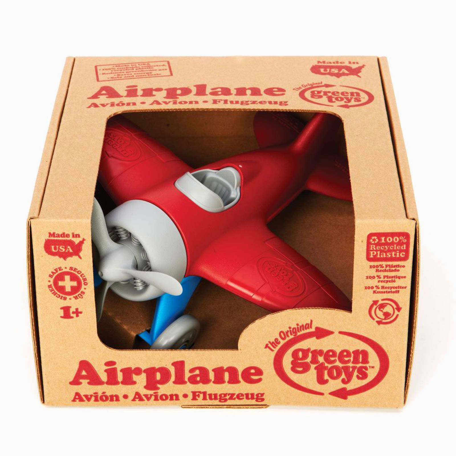 Red Airplane By Green Toys - Recycled Plastic 1+ thumbnails