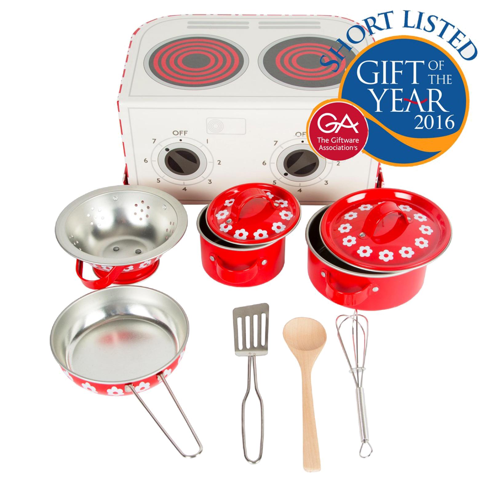 Red Daisies Kids Kitchen Cooking Box Set