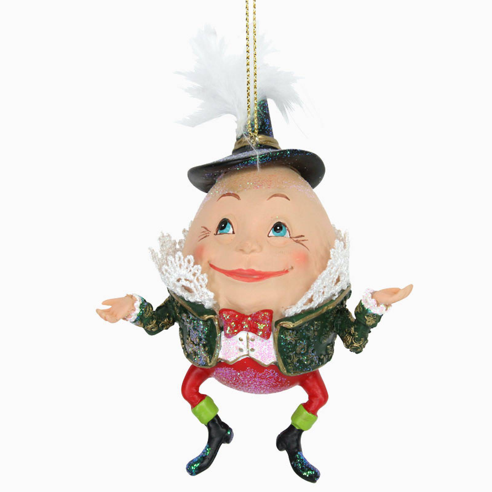 Resin Humpty Dumpty Christmas Decoration
