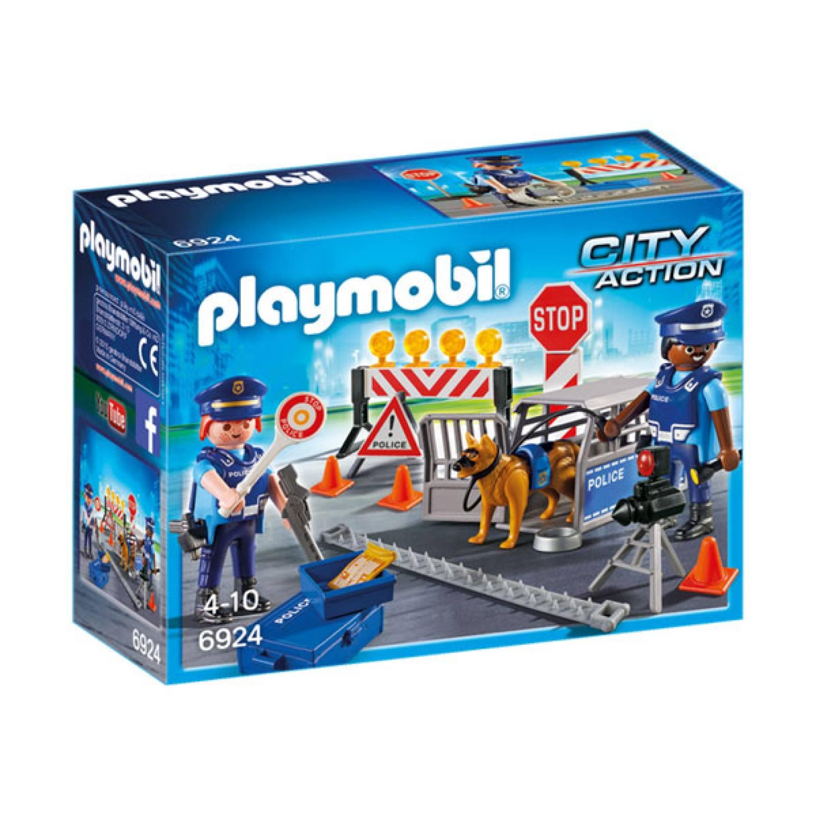 Police Roadblock City Action Playmobil 6924 thumbnails