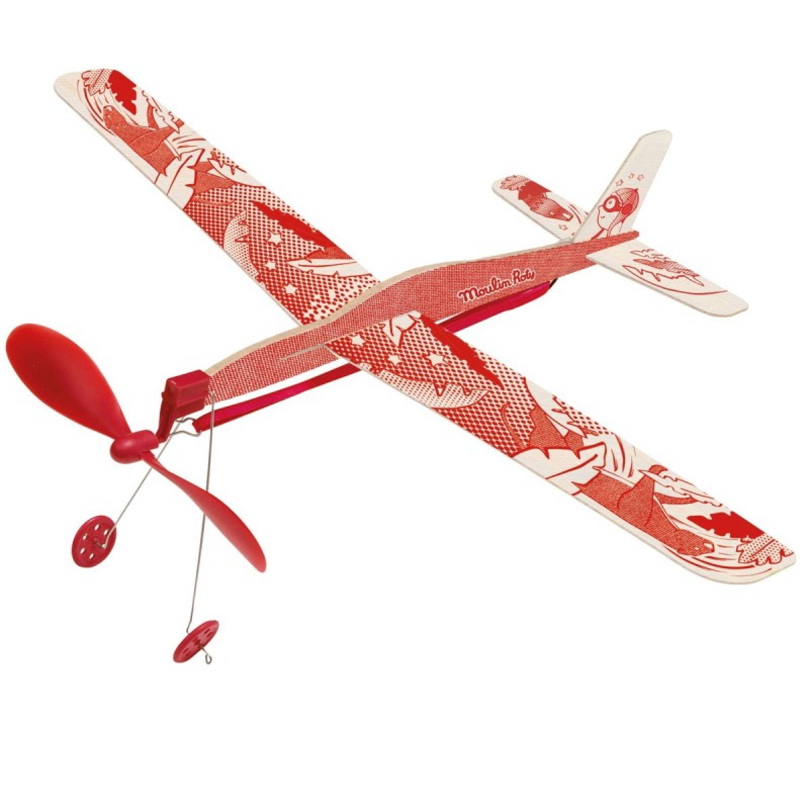 Rubber Band Wooden Glider Plane 6+ thumbnails