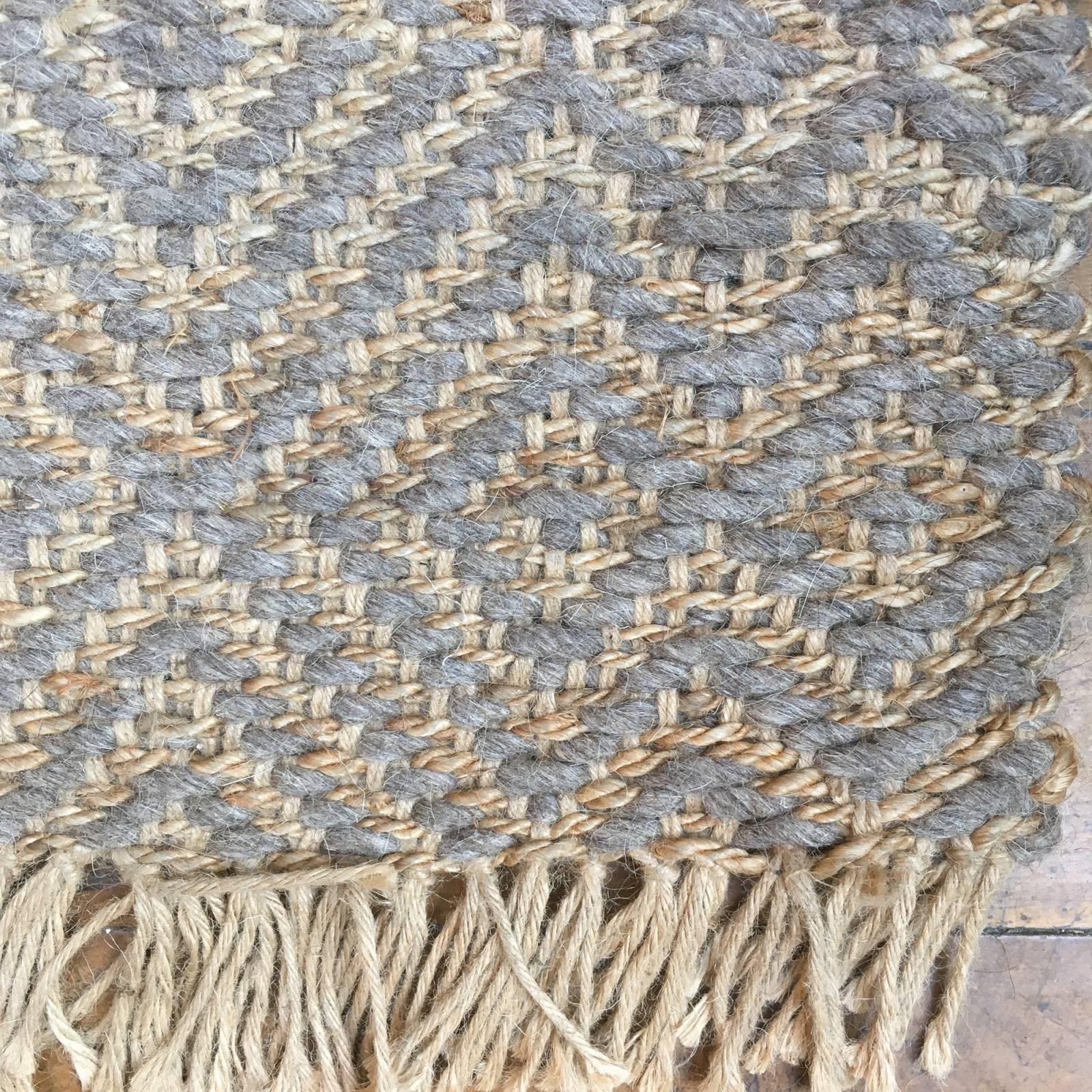 Z SOLD Natural & Grey Two-Tone Jute Rug 180x120cm thumbnails