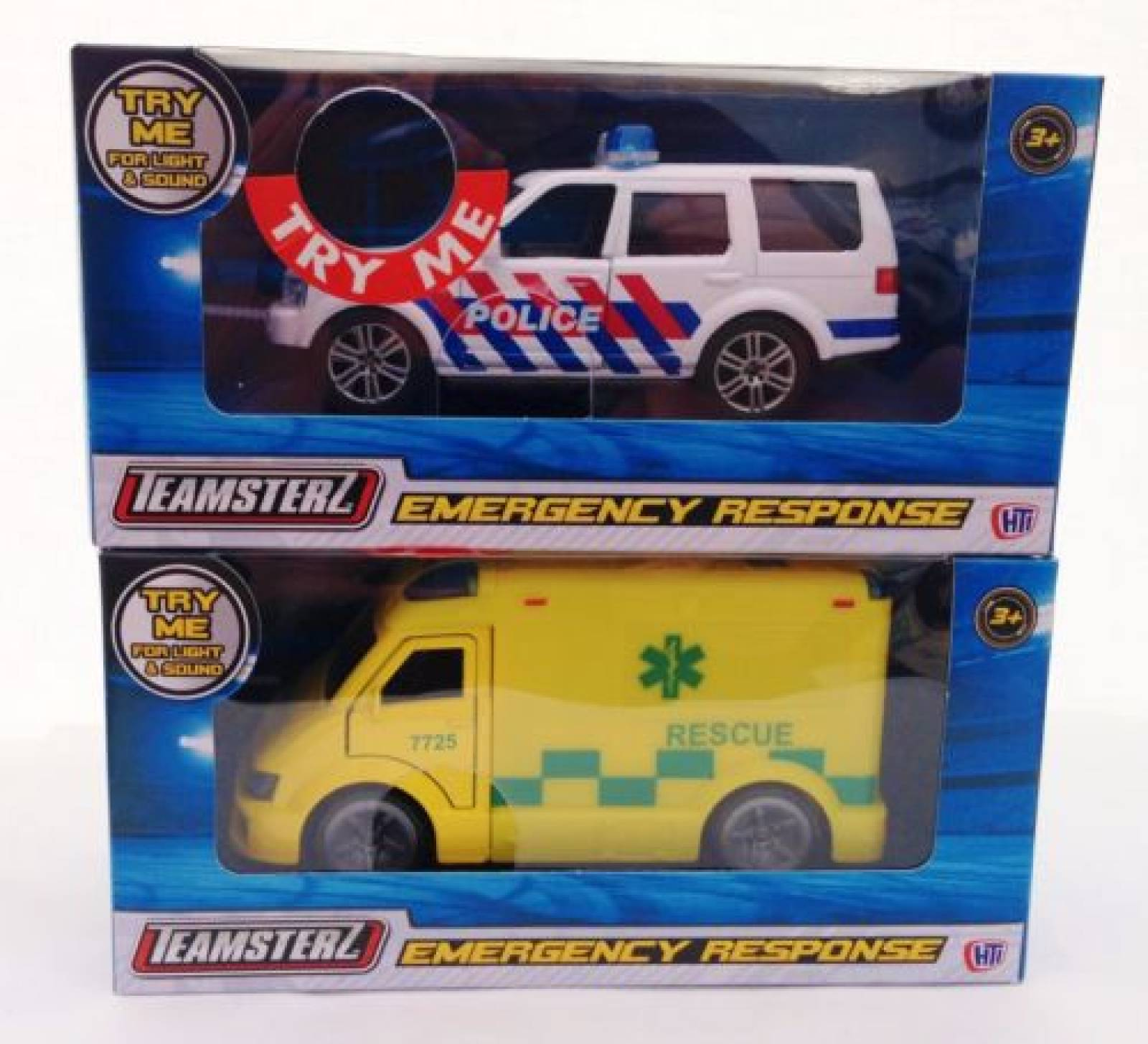 Teamsterz Emergency Response Police / Ambulance Die Cast Toy Car thumbnails