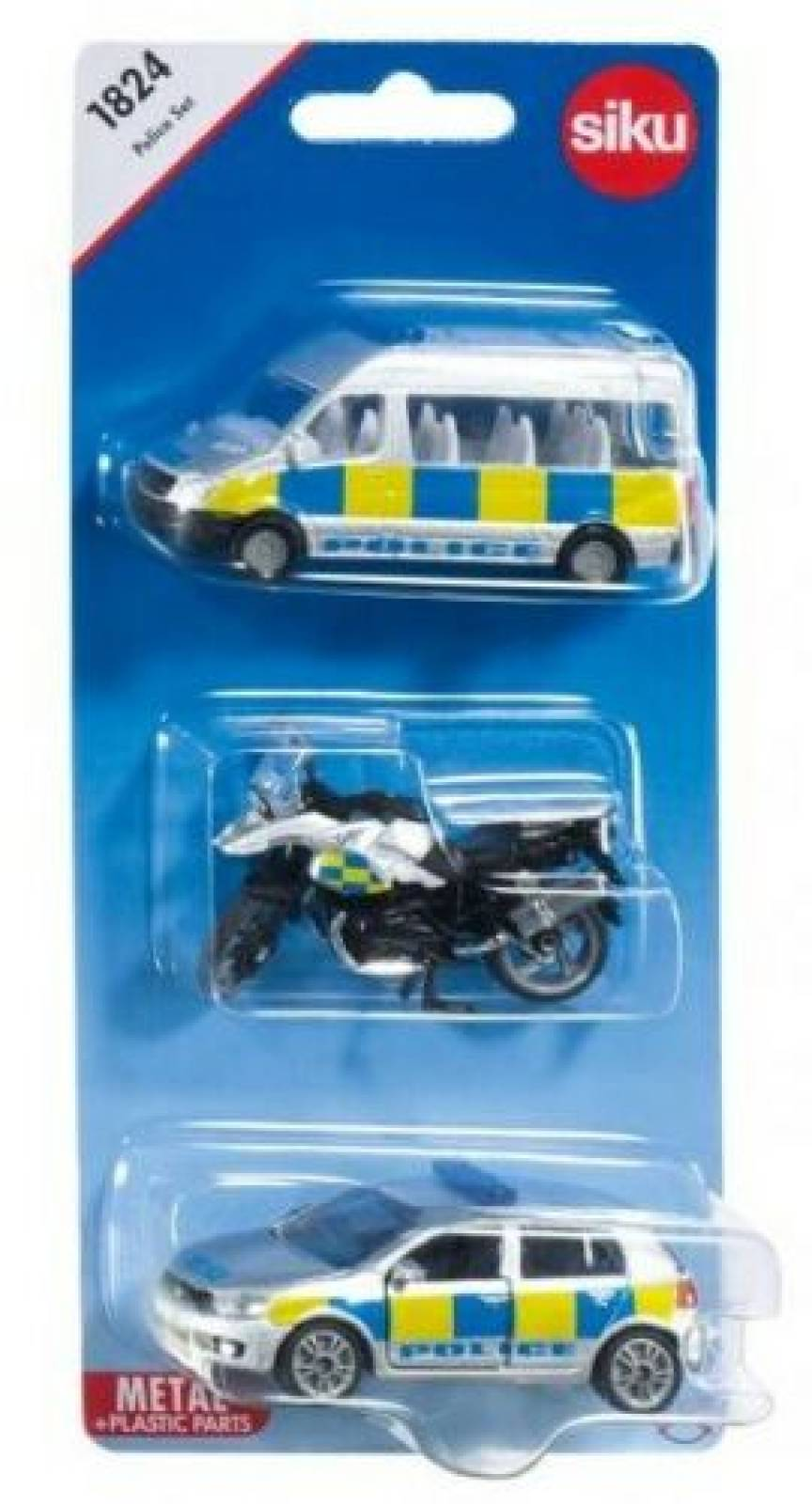 SIKU 3 Car Police Vehicle Set thumbnails