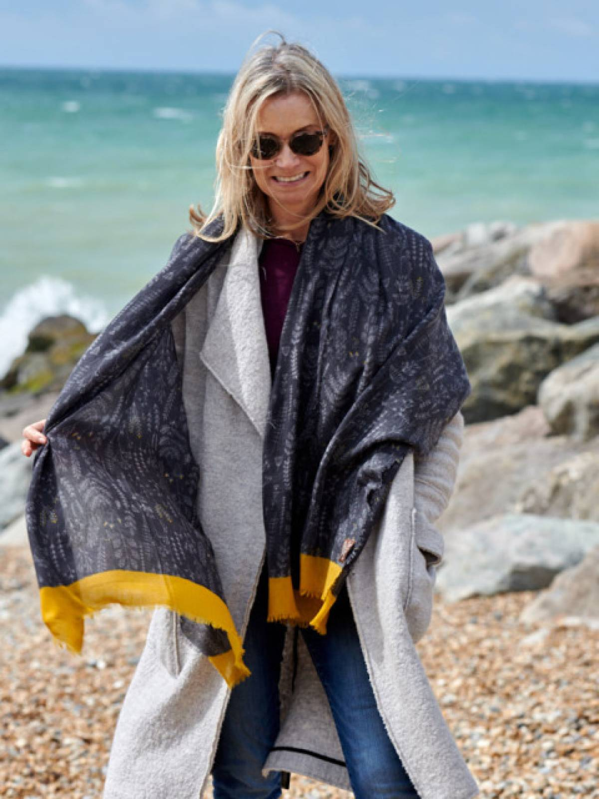 Harvest Twill Wool Scarf By Jo Edwards thumbnails
