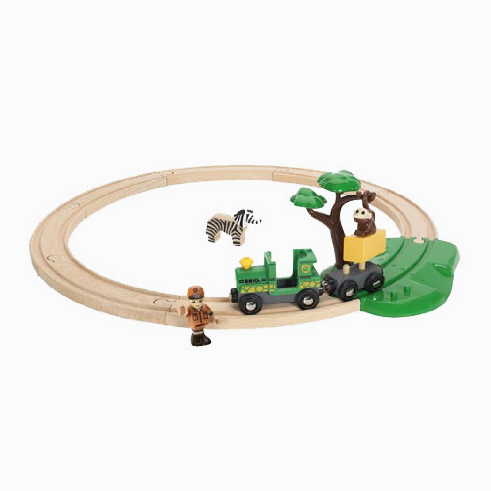 Safari Railway Set BRIO Wooden Railway Age 3+