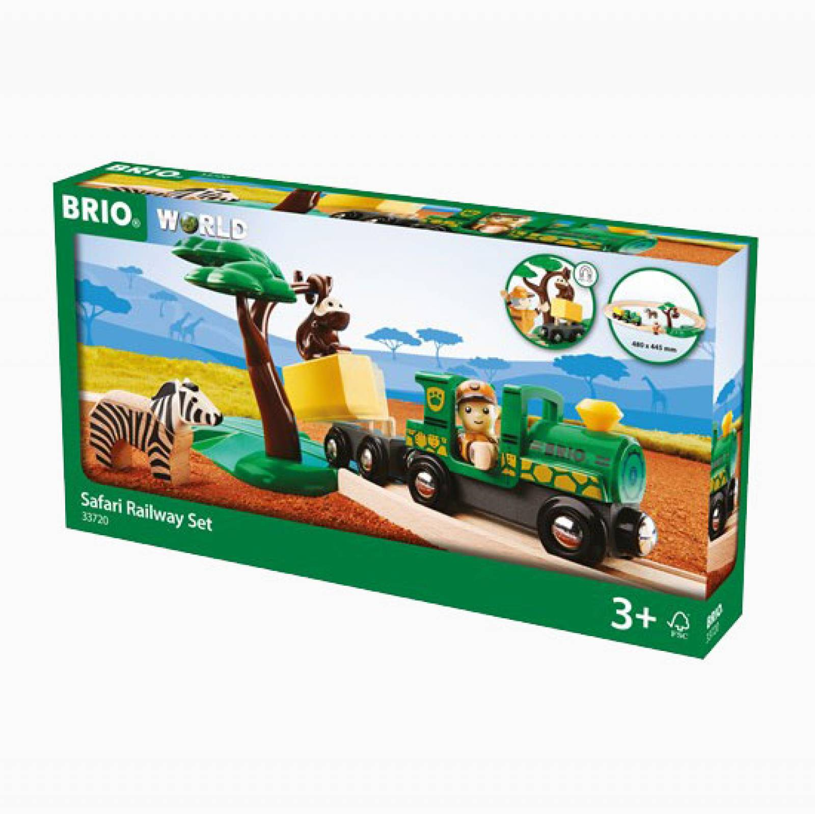 Safari Railway Set BRIO Wooden Railway Age 3+ thumbnails