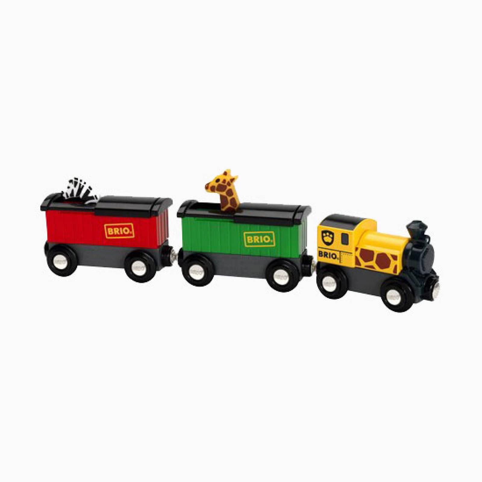Safari Train BRIO Wooden Railway Age 3+
