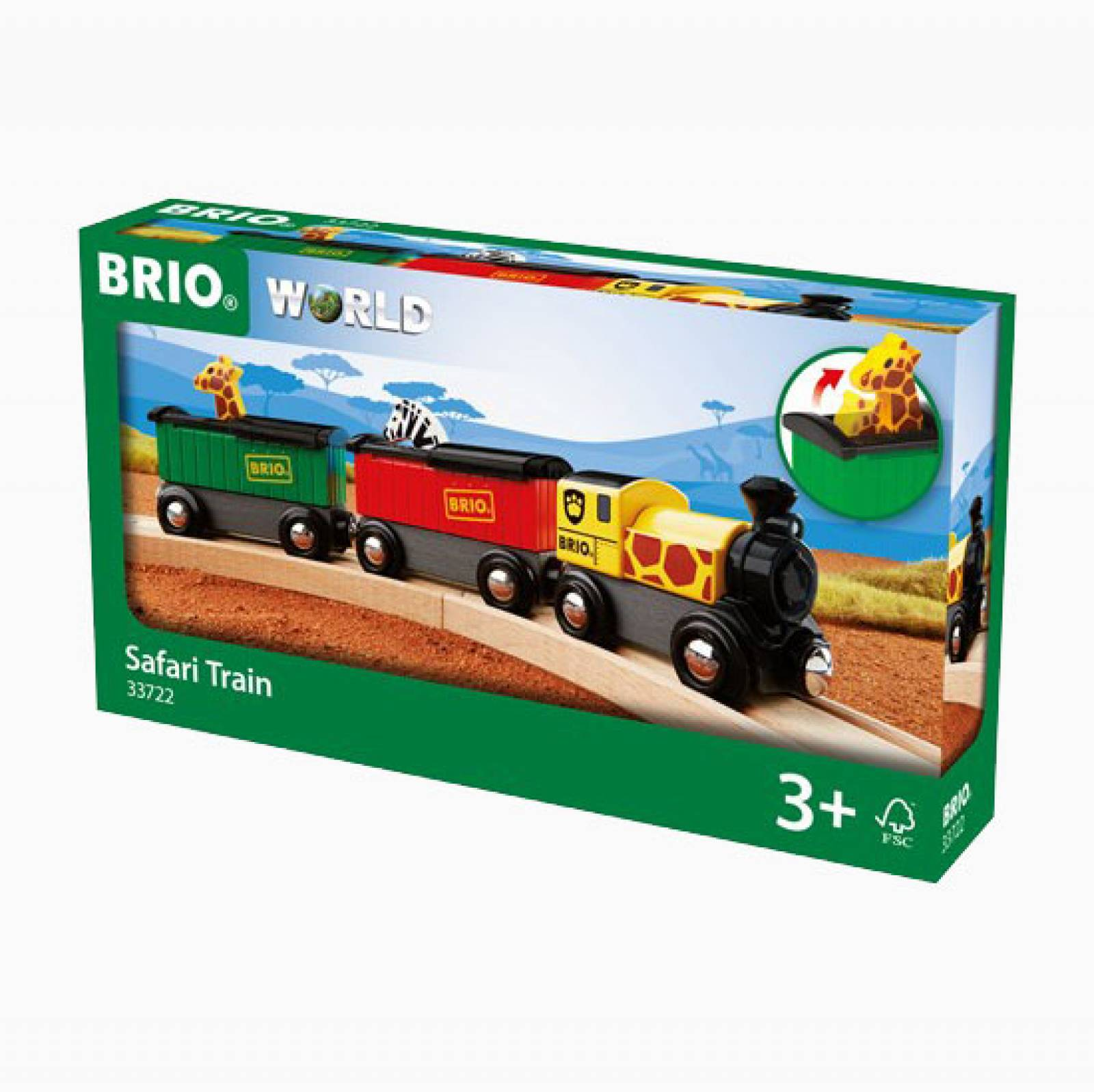 Safari Train BRIO Wooden Railway Age 3+ thumbnails