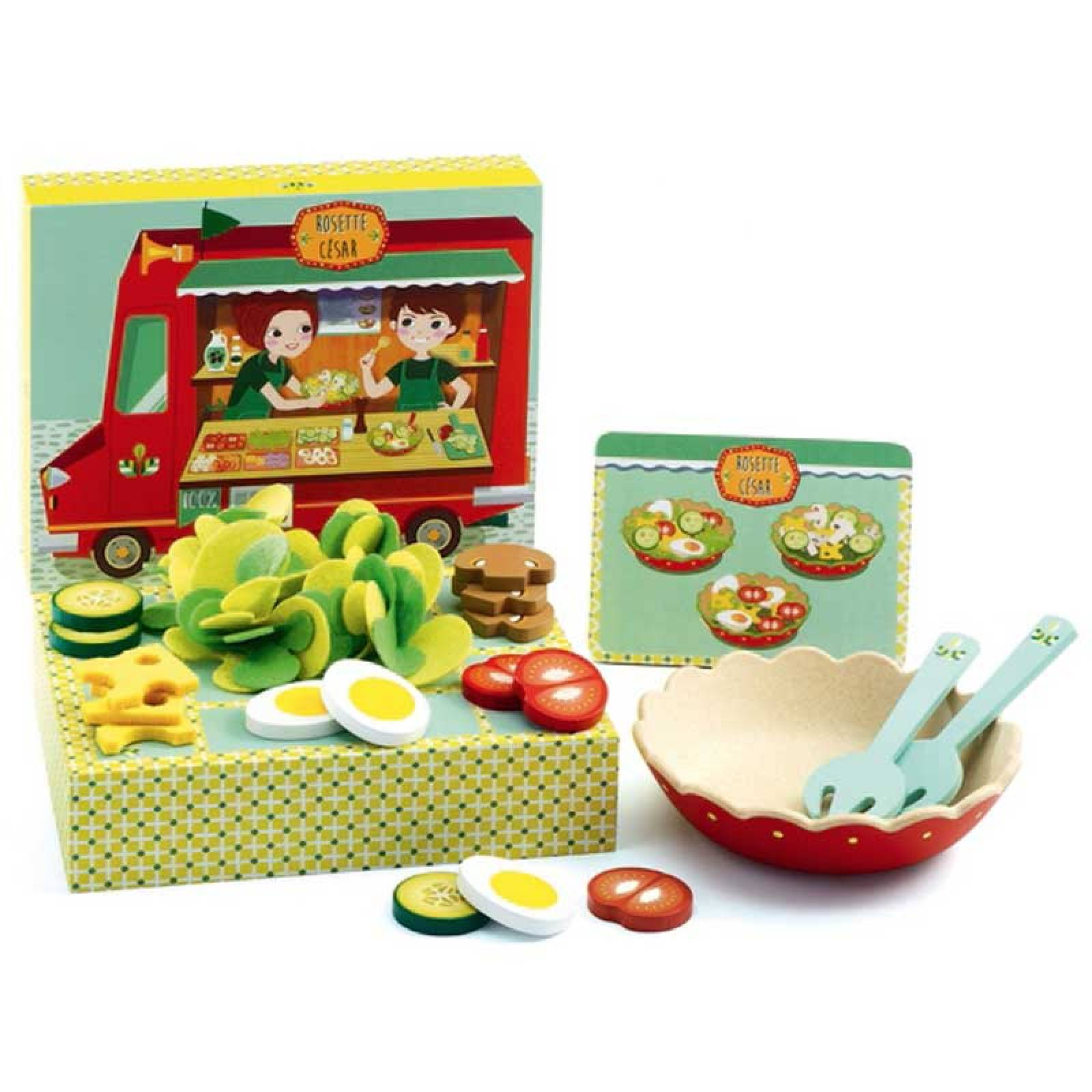 Salad Set Rosette & Cesar By Djeco