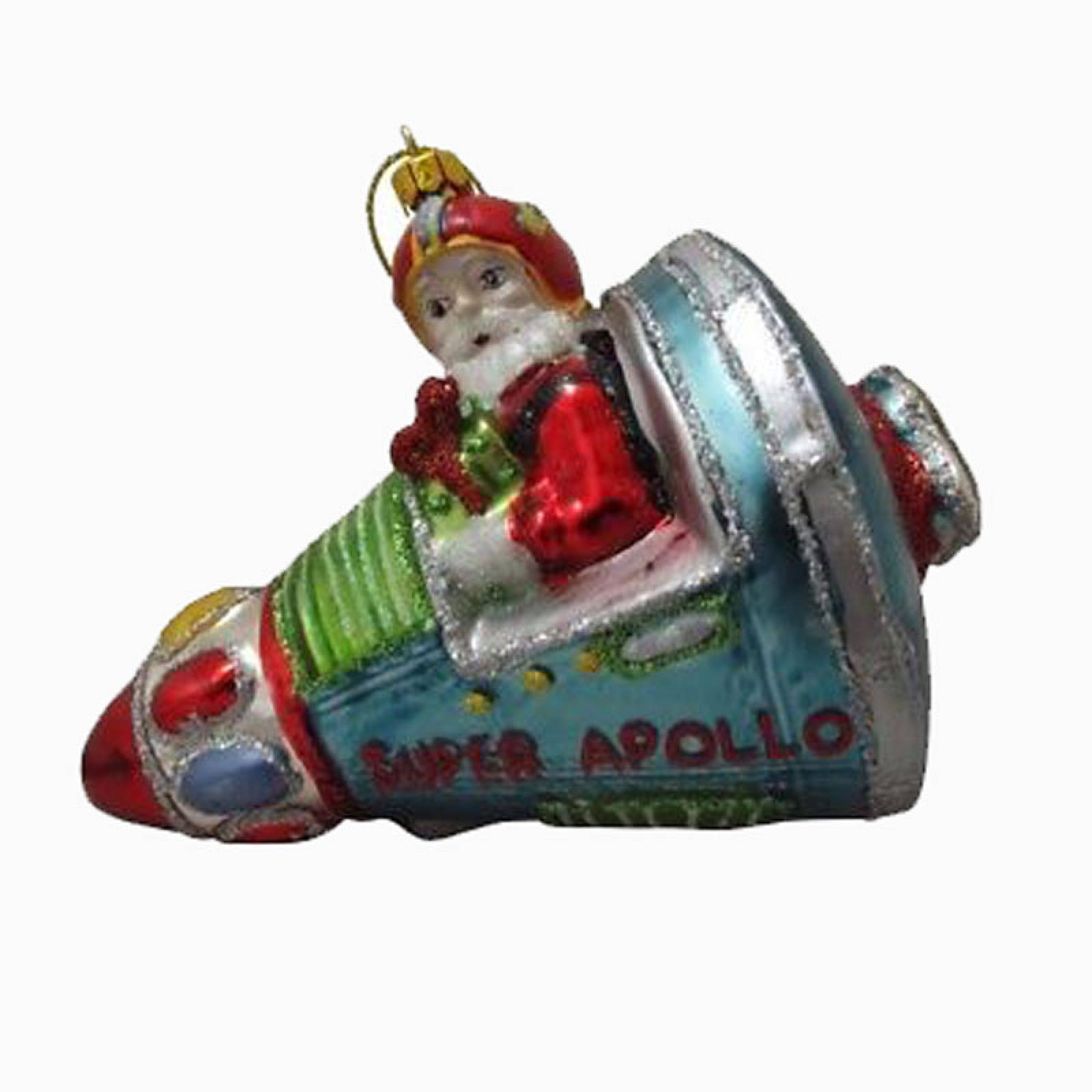 Santa In Apollo Spaceship Christmas Decoration