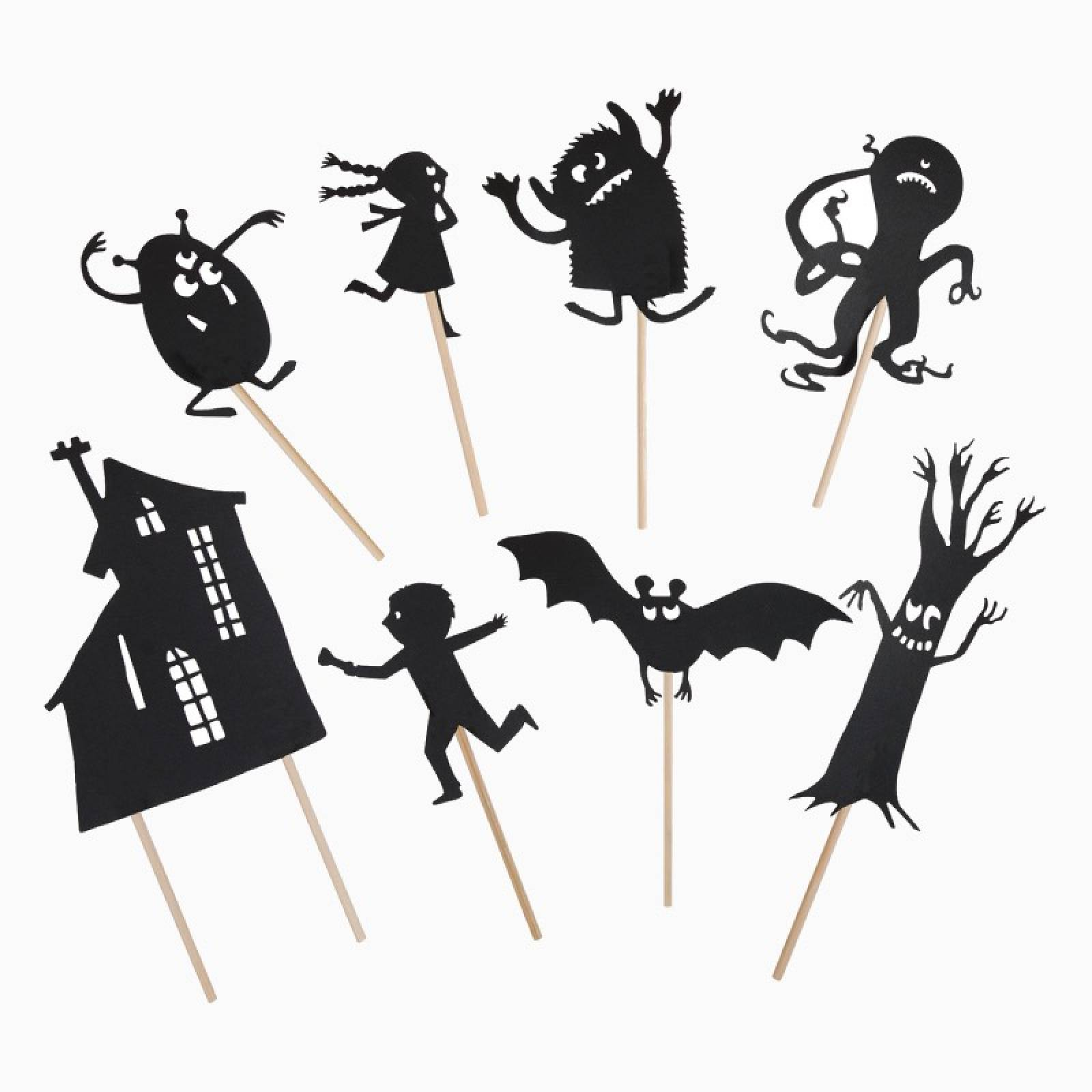 Scary Glow In The Dark Night Time Shadow Puppets 3+