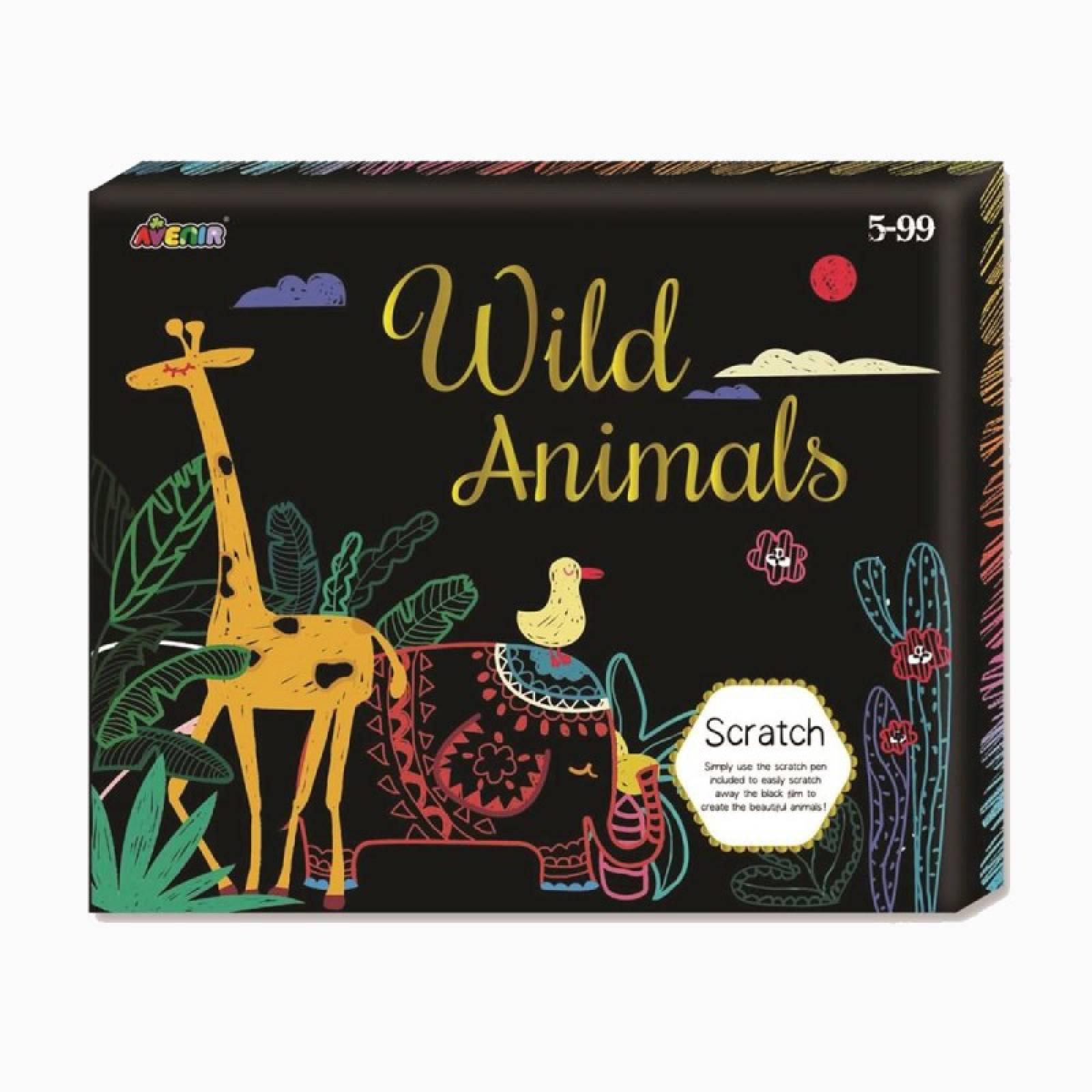 Scratch Card Box Set - Wild Animals 5+