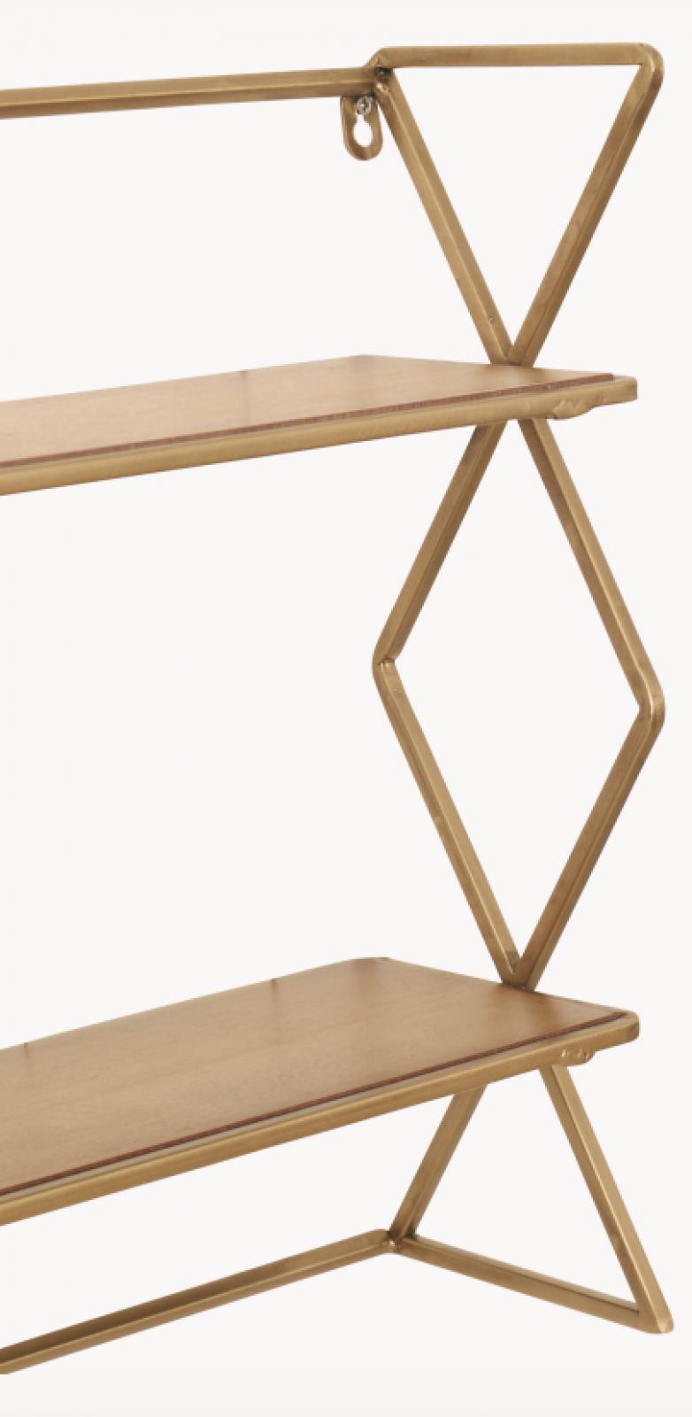 Diam Shelf Unit With Brass Finish thumbnails