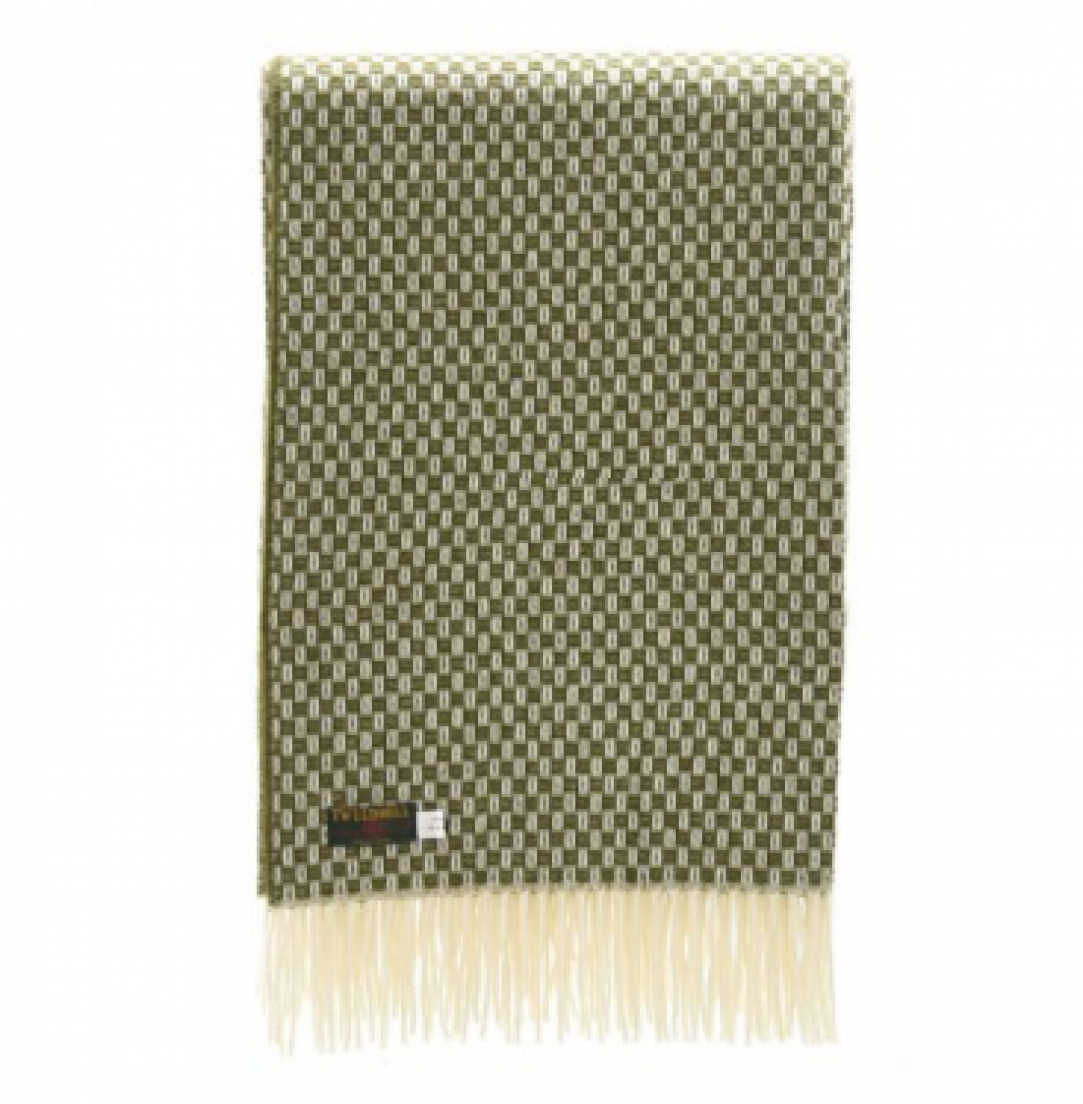 Merino Wool Willow Olive Green Blanket 140x180cm thumbnails