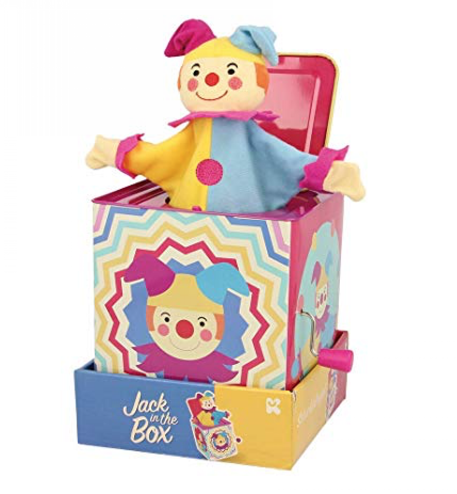 Jack In A Box Jester Tin Toy With Music