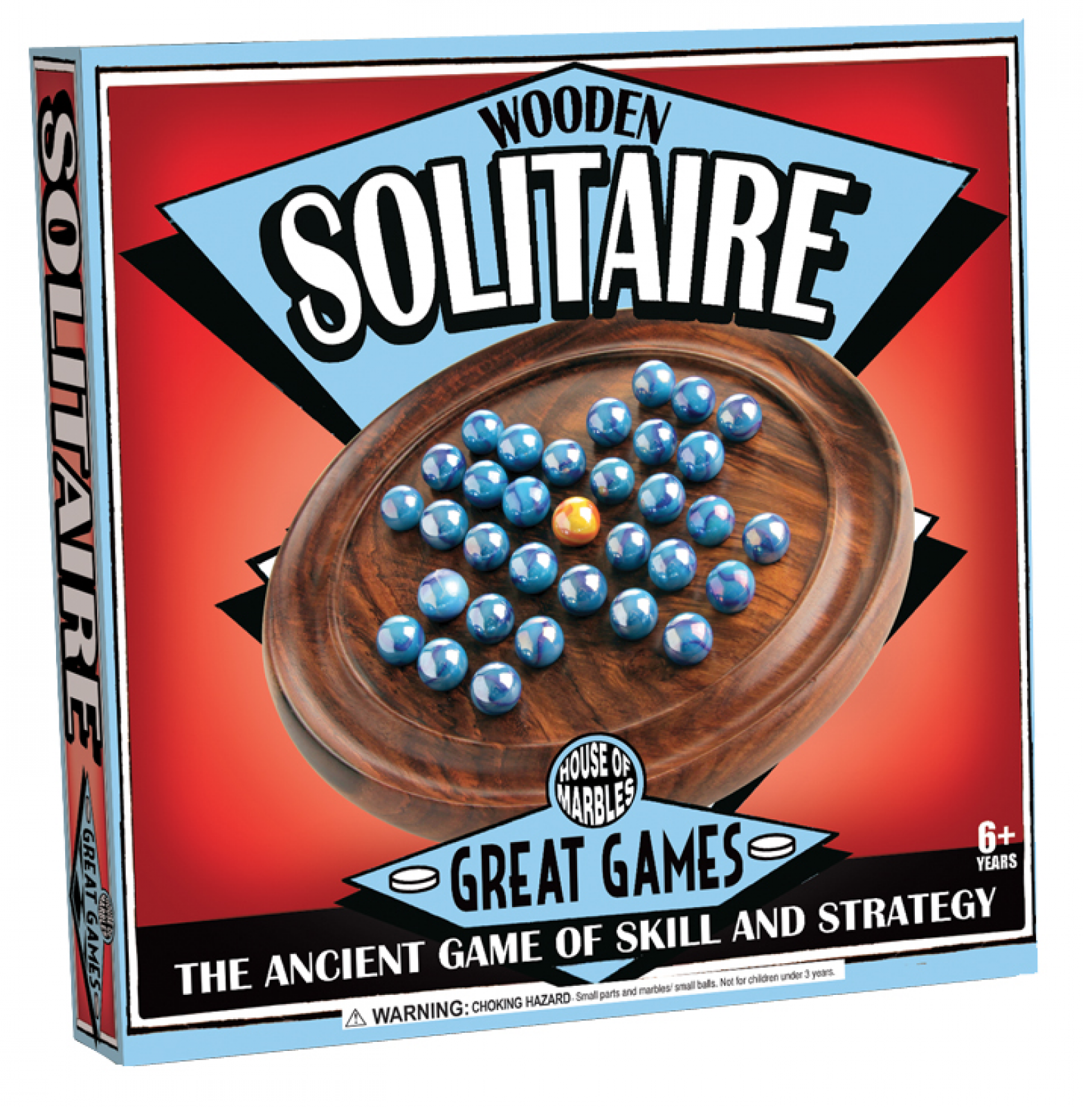 Solitaire Wooden Game With Marbles thumbnails